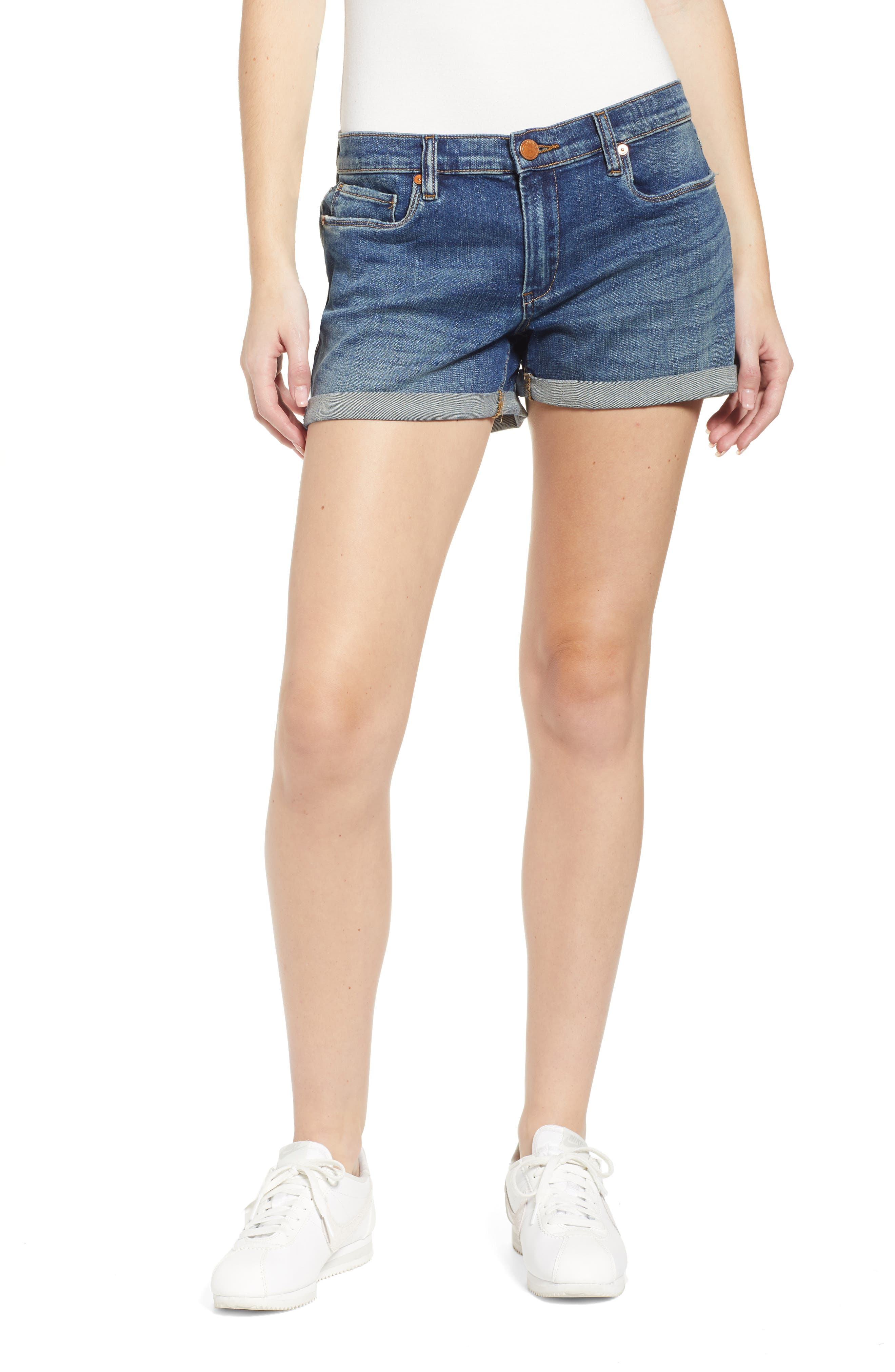 Fulton Cuff Denim Short by Blanknyc