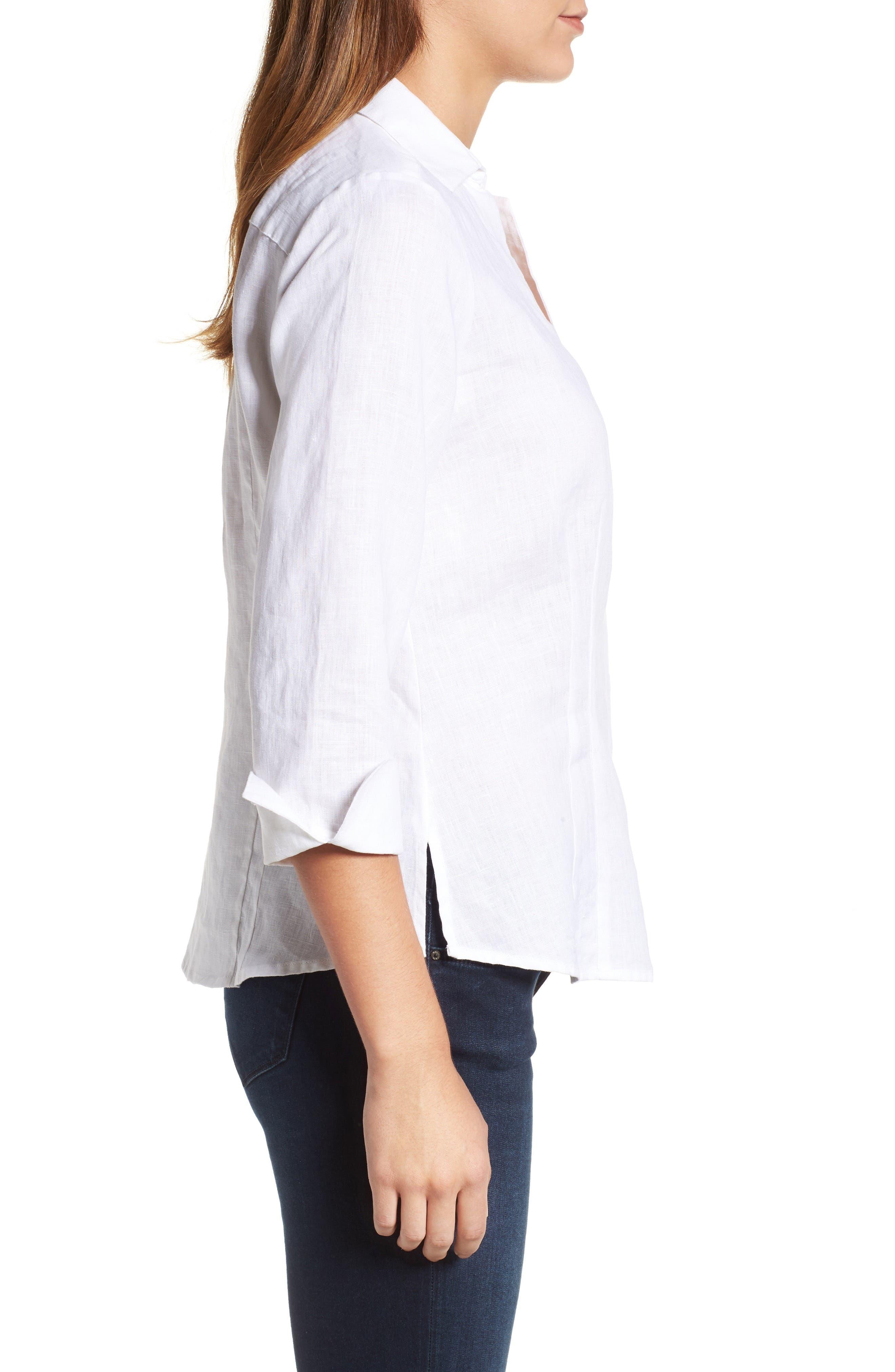 Linen Chambray Shirt,                             Alternate thumbnail 17, color,