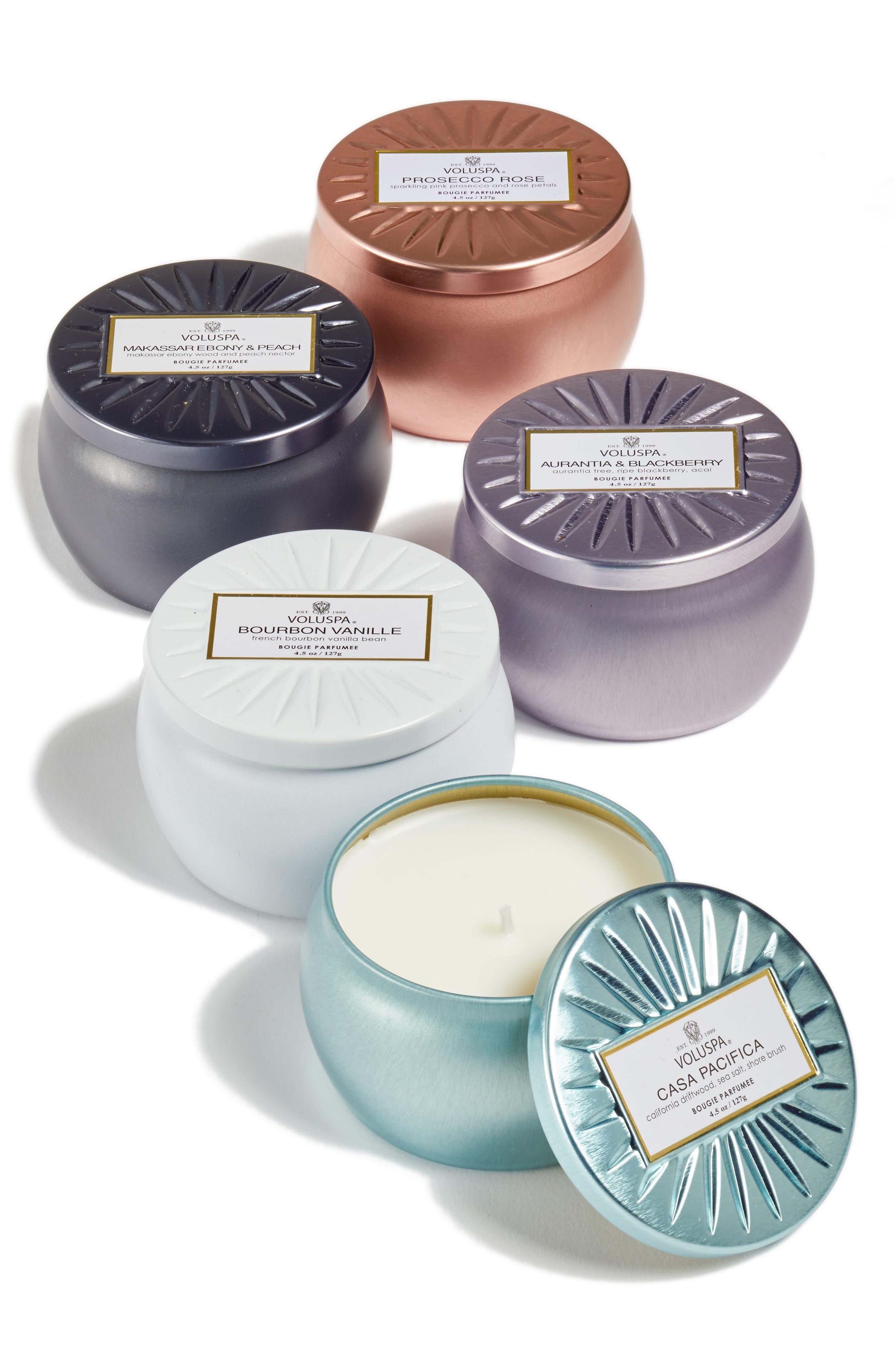 Vermeil Mini Tin Candle Set,                         Main,                         color, NO COLOR