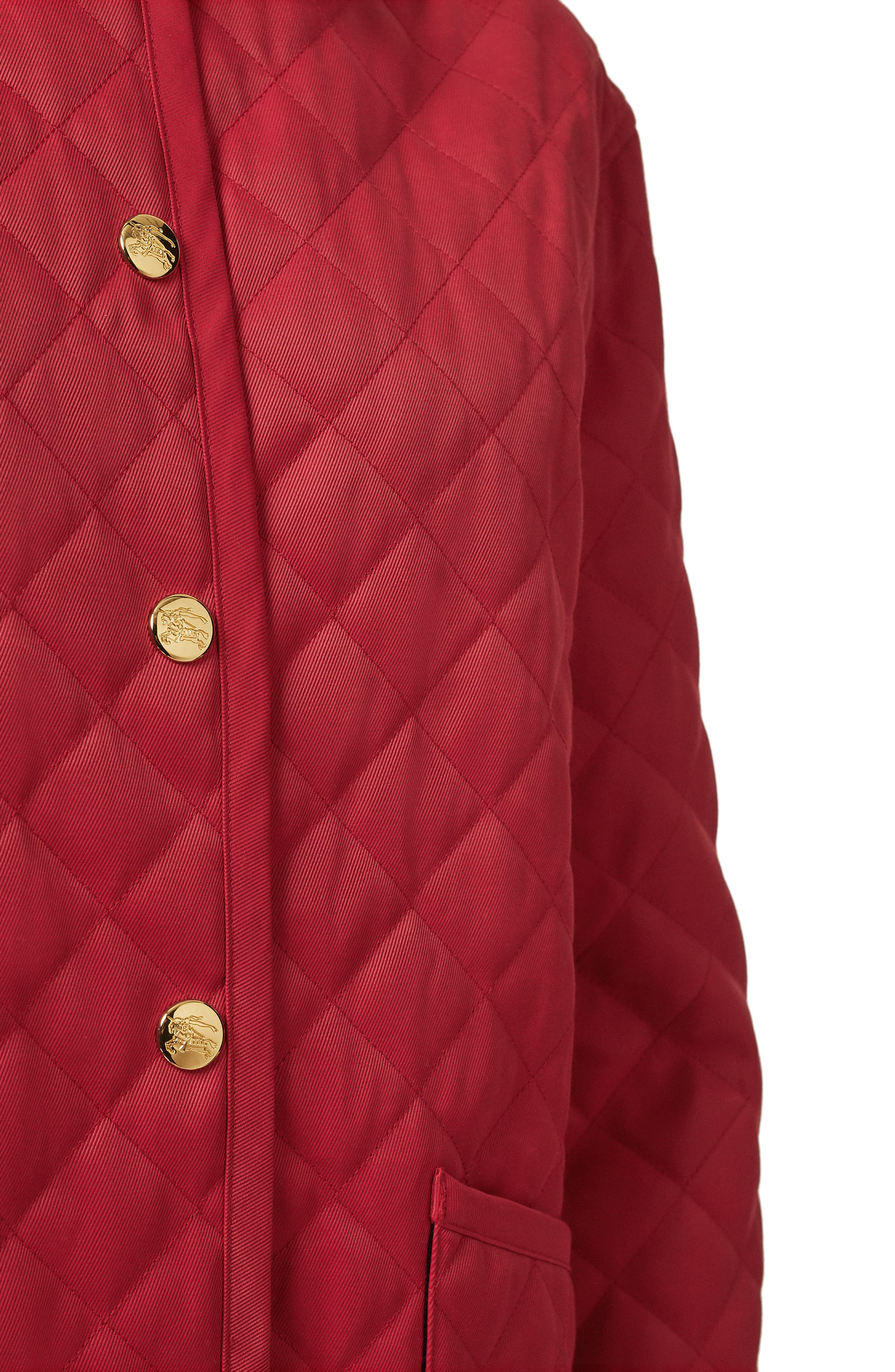 Dranefeld Quilted Jacket,                             Alternate thumbnail 7, color,                             RED