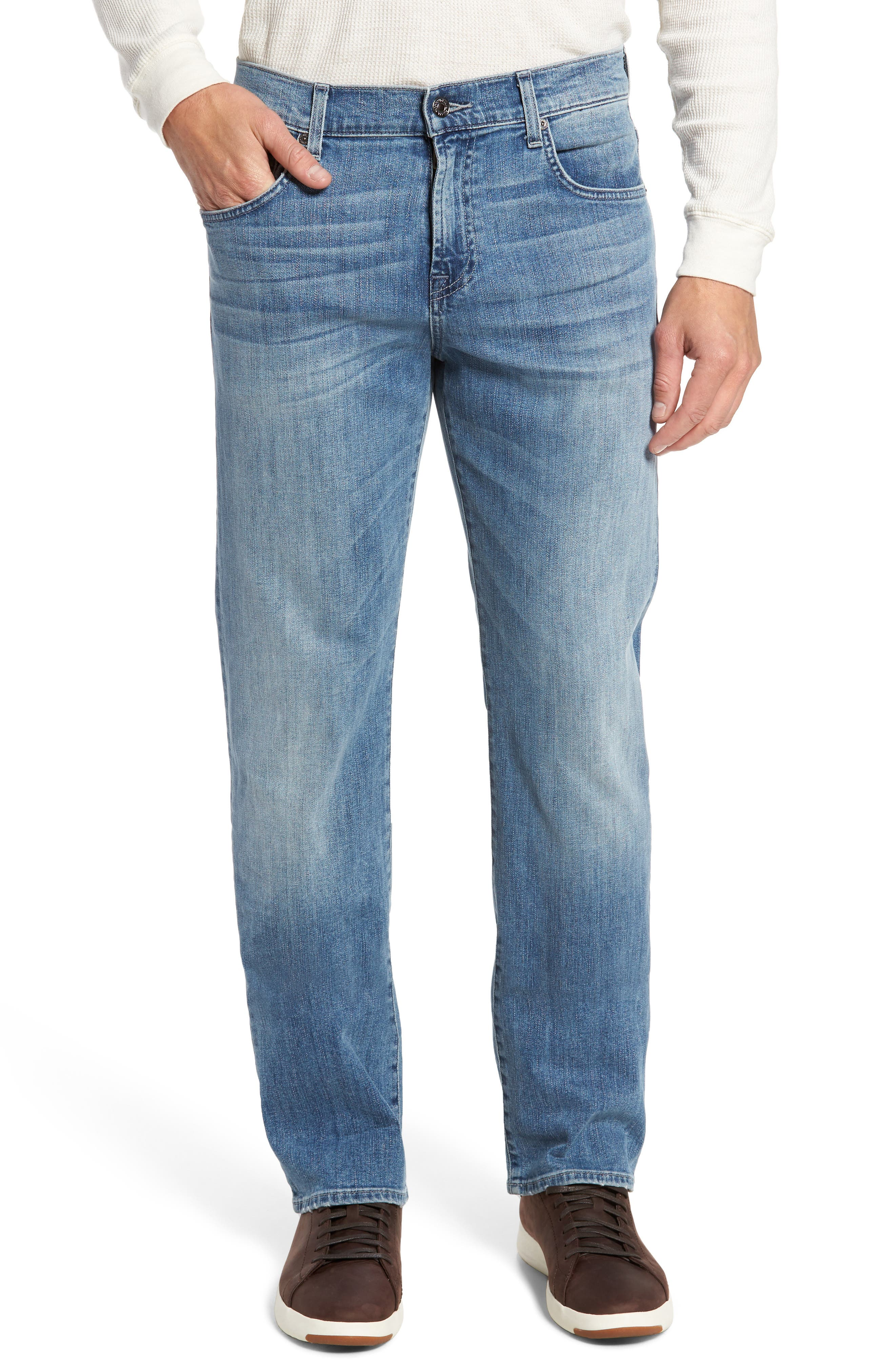 7 FOR ALL MANKIND<SUP>®</SUP>,                             Luxe Performance - Carsen Straight Leg Jeans,                             Main thumbnail 1, color,                             HOMAGE