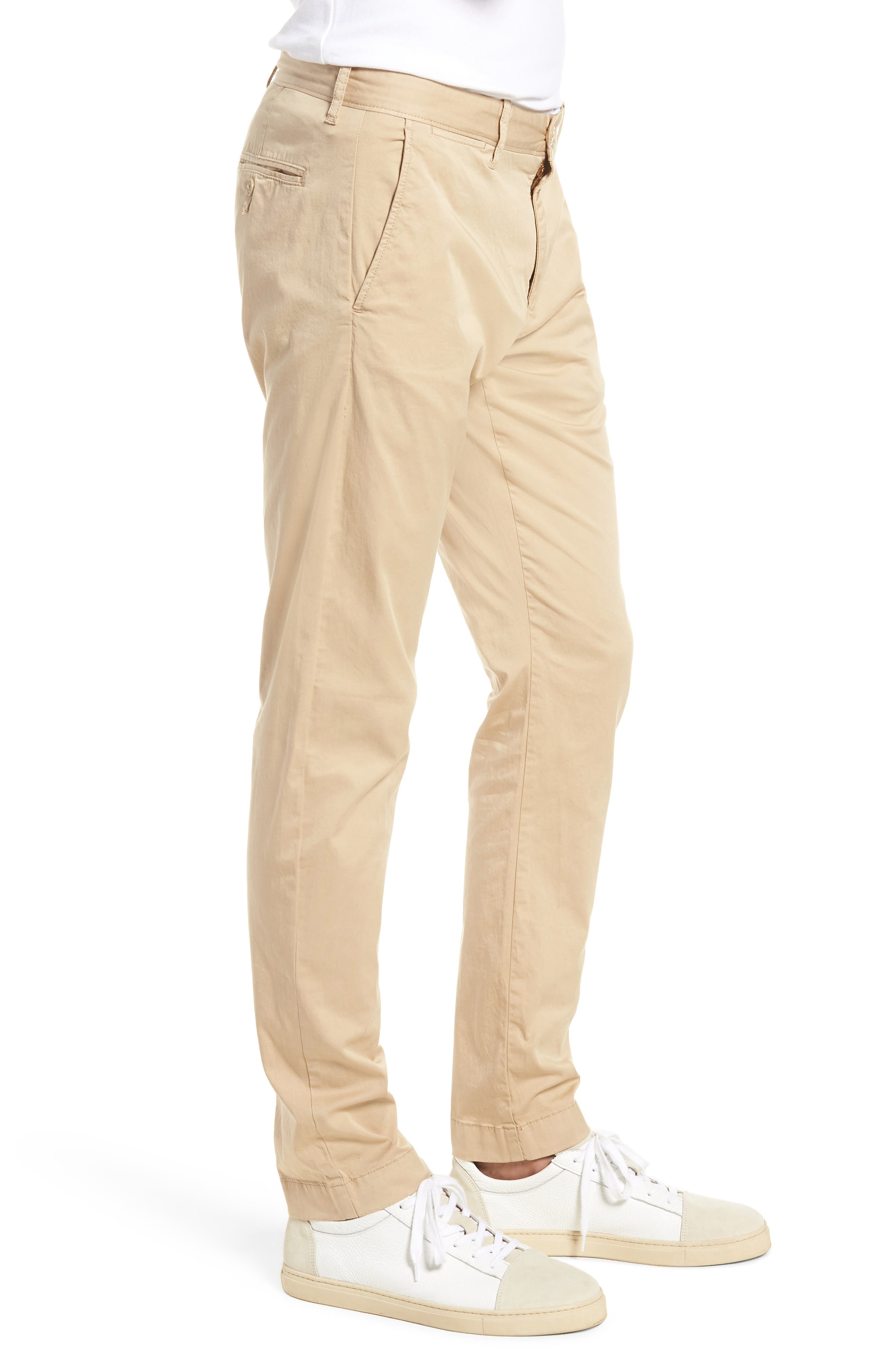 Slim Fit Garment Dyed Stretch Chinos,                             Alternate thumbnail 9, color,