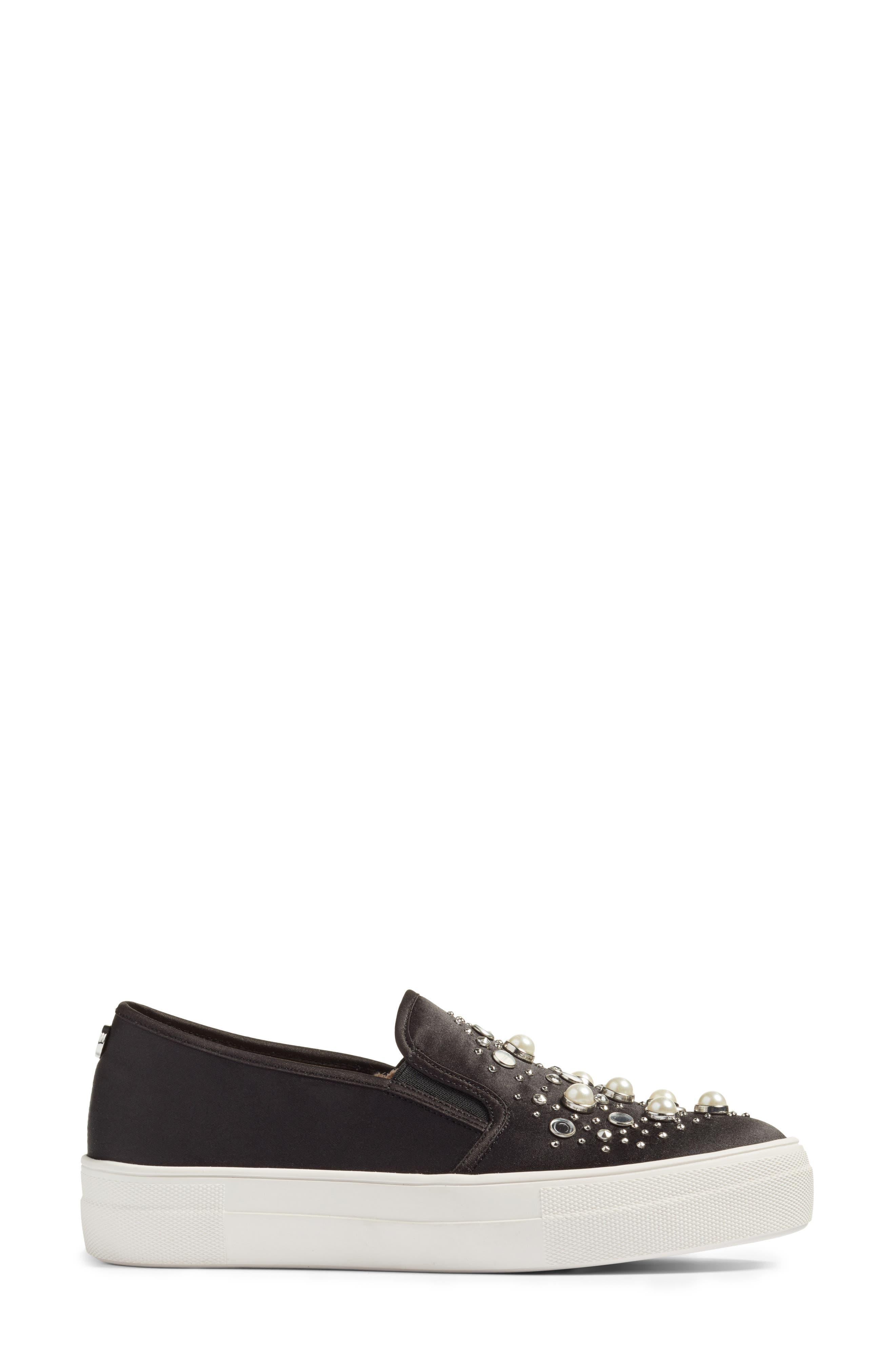 Glade Embellished Slip-On Sneaker,                             Alternate thumbnail 3, color,                             001