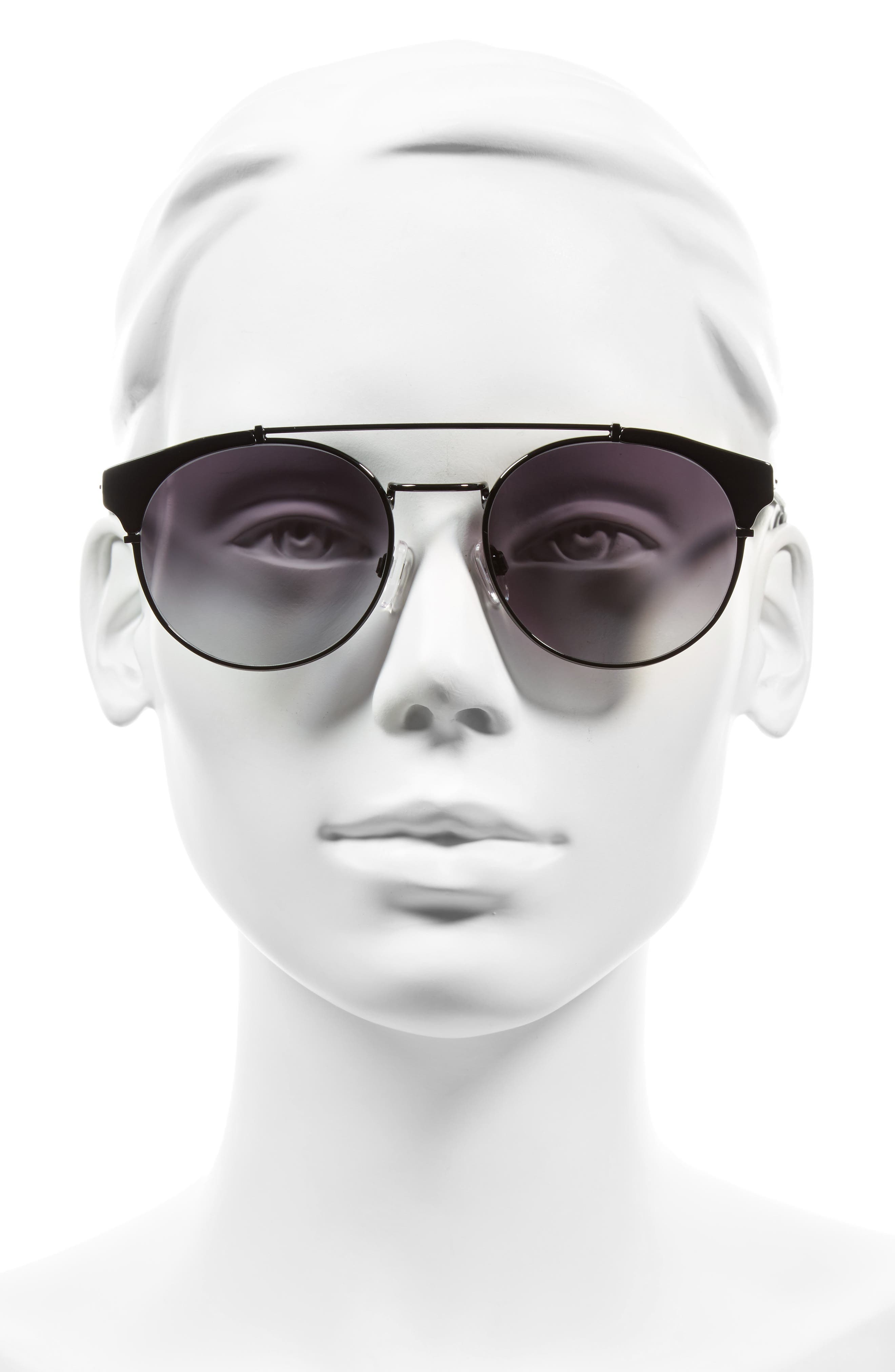 D'BLANC x Amuse Society Dosed Marquis 52mm Gradient Round Aviator Sunglasses,                             Alternate thumbnail 6, color,