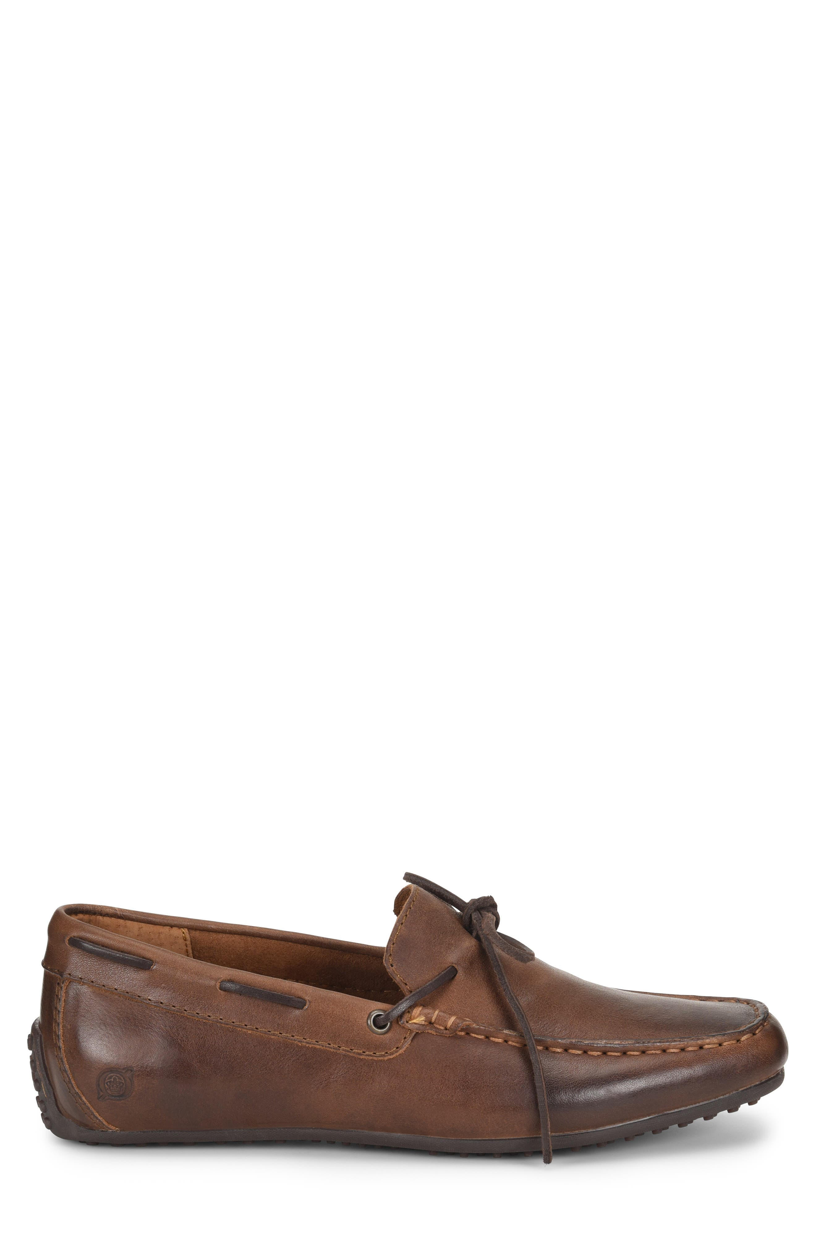 Virgo Driving Shoe,                             Alternate thumbnail 3, color,                             BROWN/BROWN LEATHER