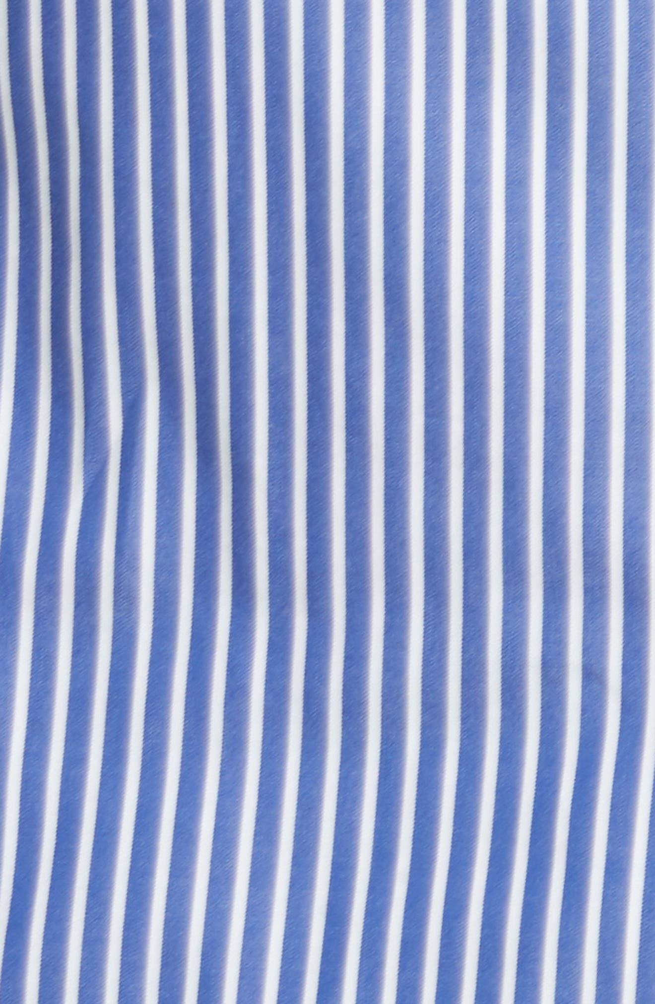 Candice Stripe Shirting Tie Dress,                             Alternate thumbnail 5, color,