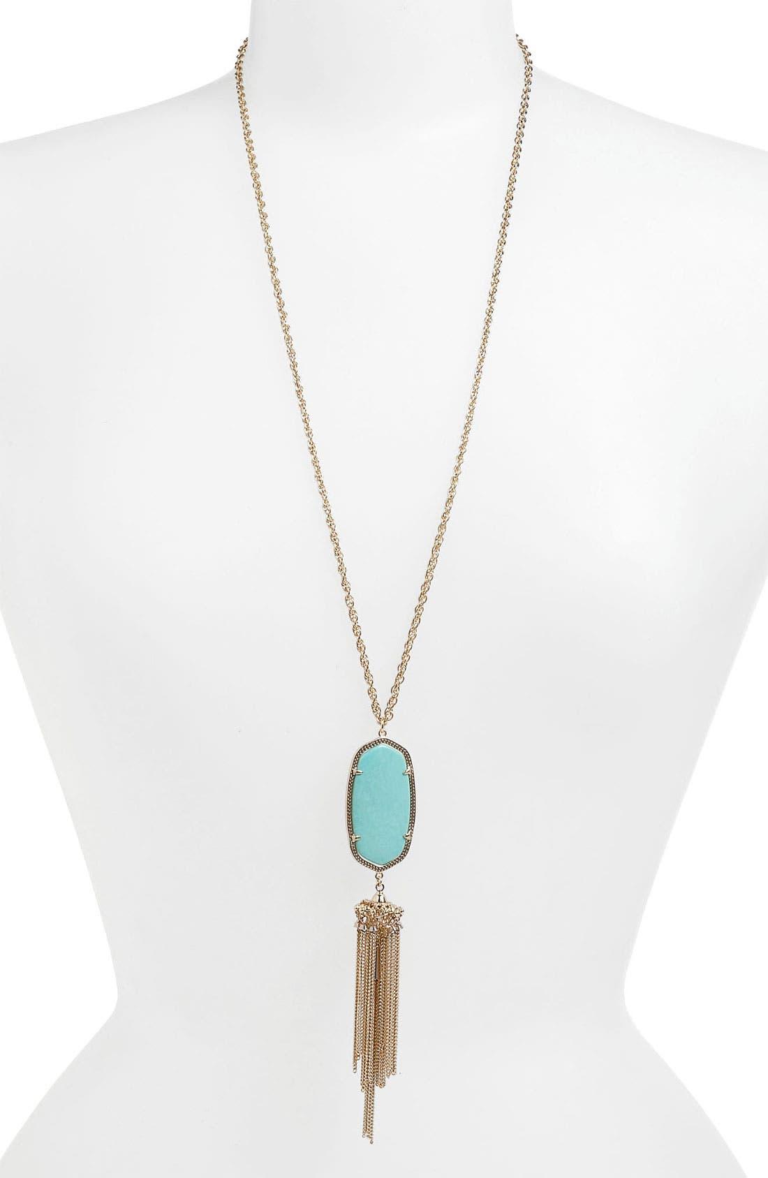 Rayne Stone Tassel Pendant Necklace,                             Main thumbnail 38, color,