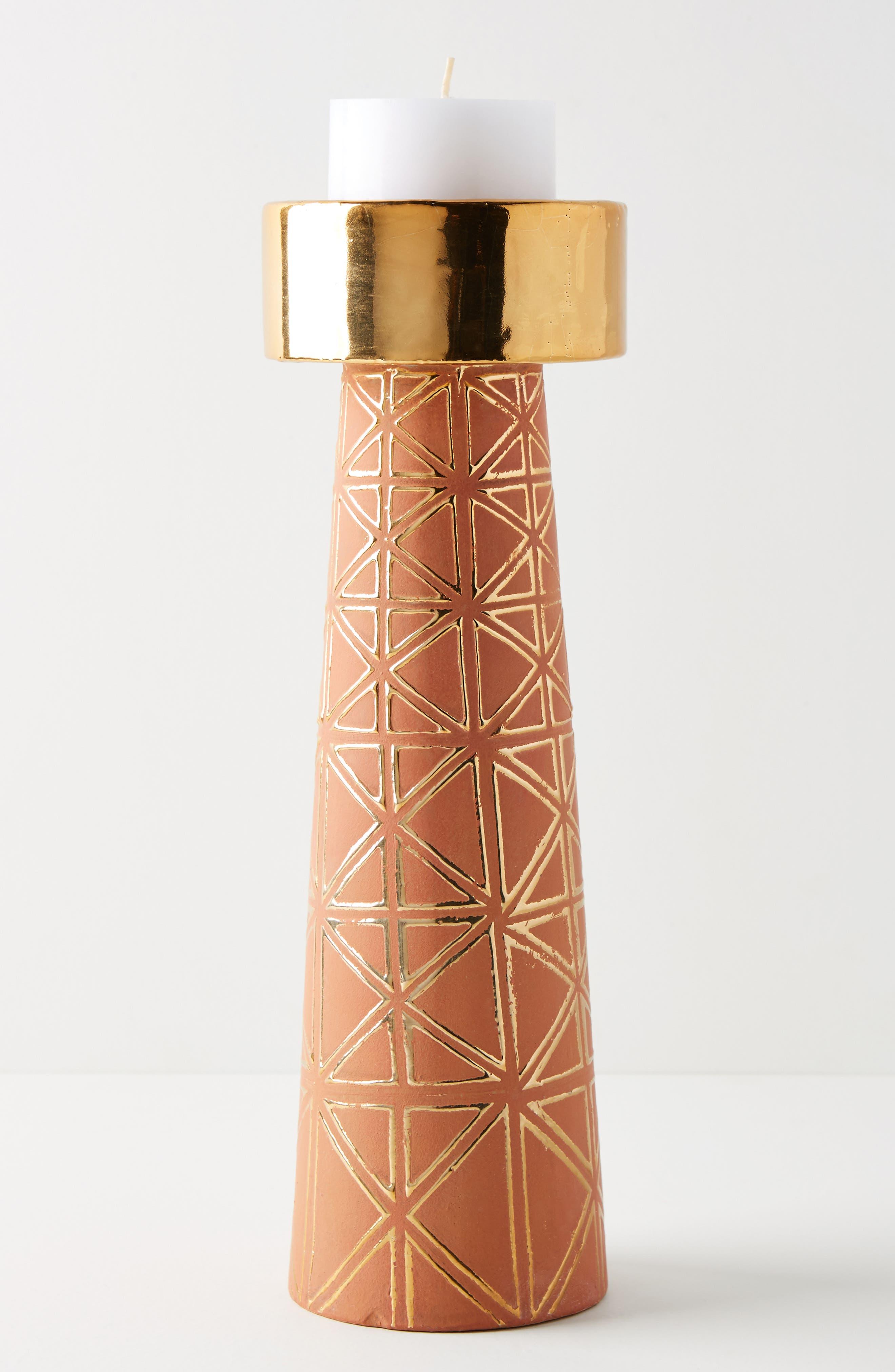 ANTHROPOLOGIE,                             Geo Pillar Candleholder,                             Alternate thumbnail 2, color,                             200