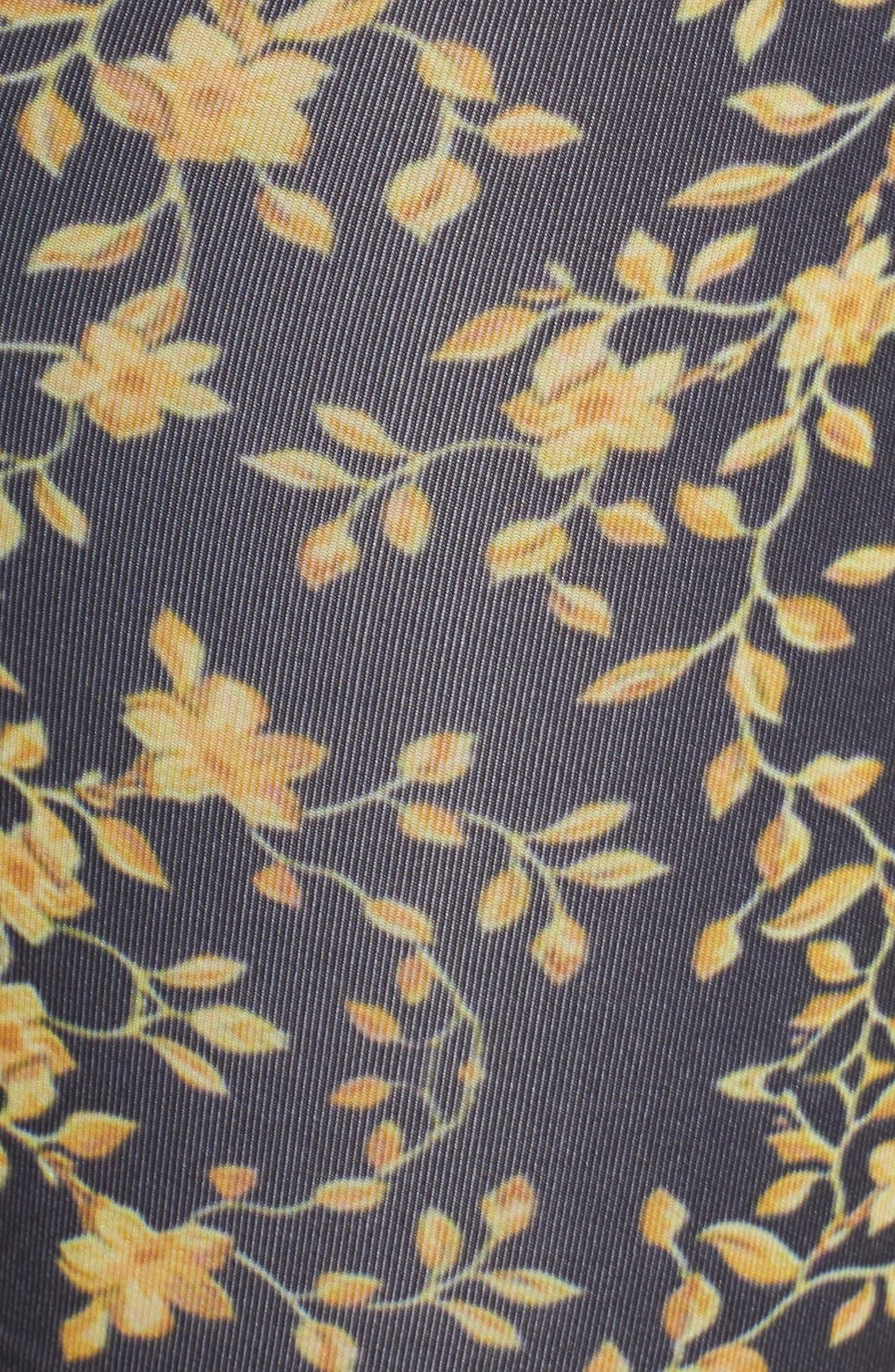 Flower Sace Boxer Briefs,                             Alternate thumbnail 5, color,                             BLACK/ GOLD