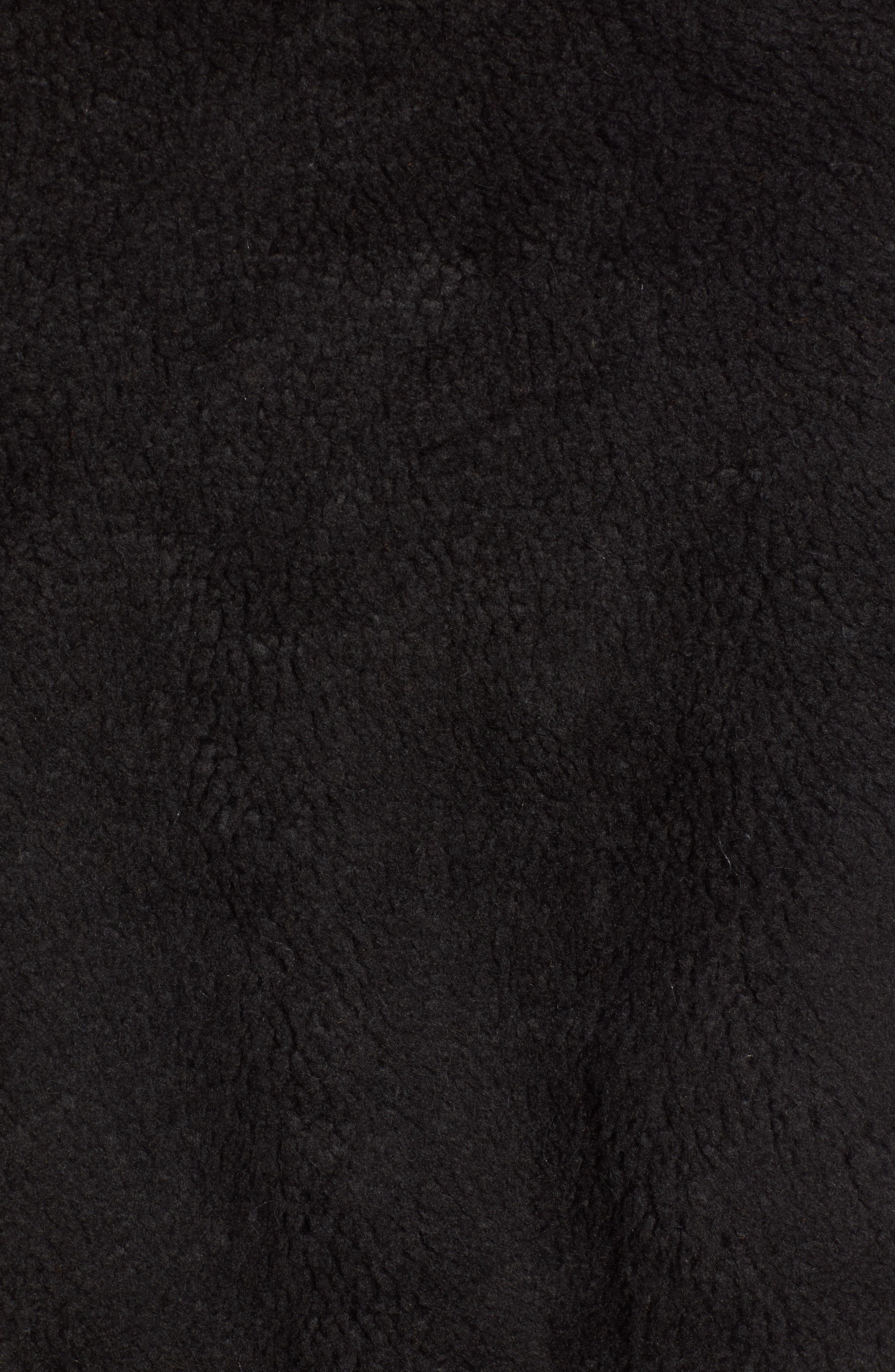 Northy Faux Fur Jacket,                             Alternate thumbnail 7, color,                             BLACK