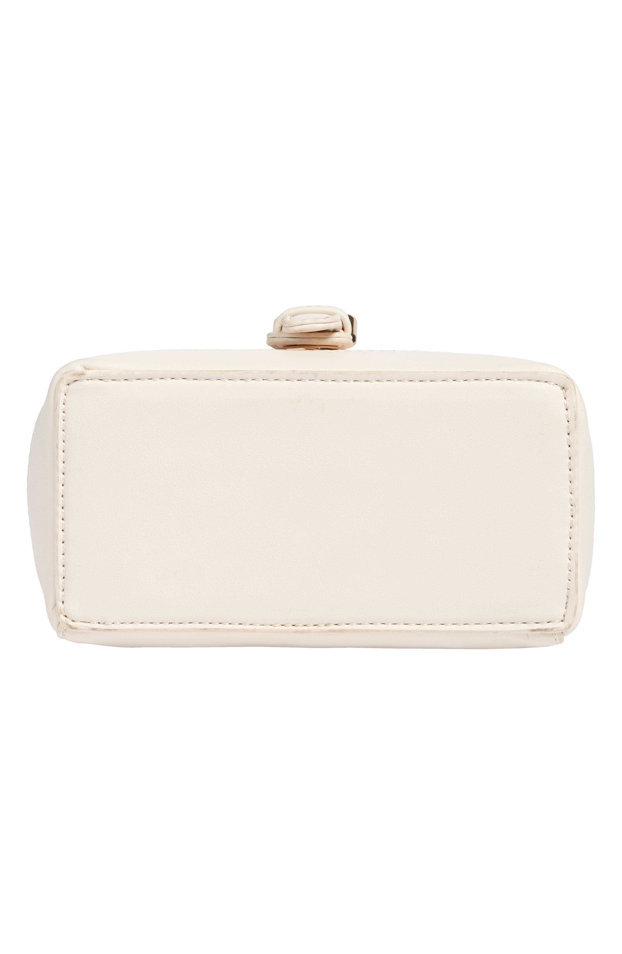 Top Handle Studded Bag,                             Alternate thumbnail 5, color,                             WHITE
