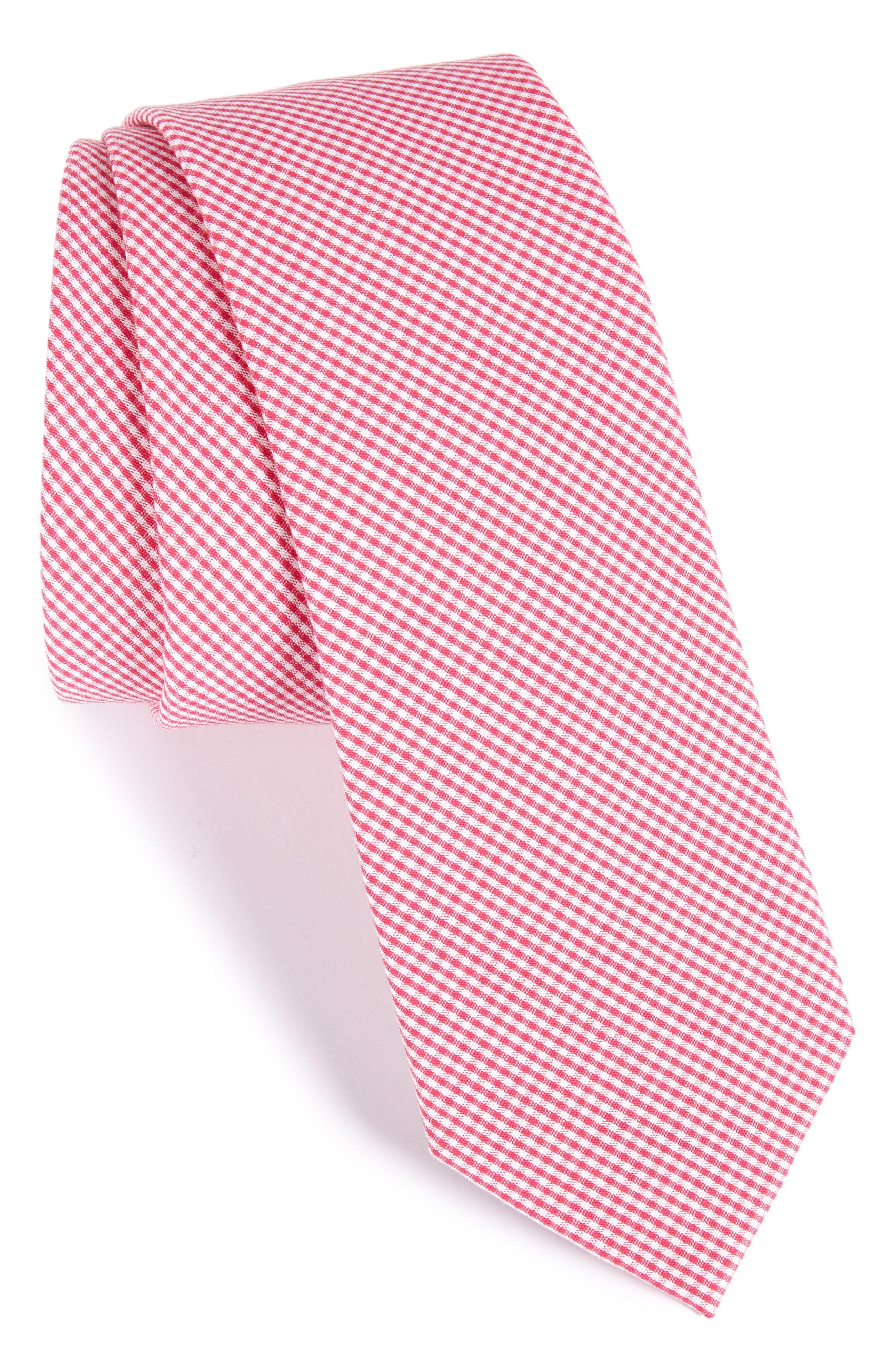 Check Cotton Tie,                             Main thumbnail 11, color,