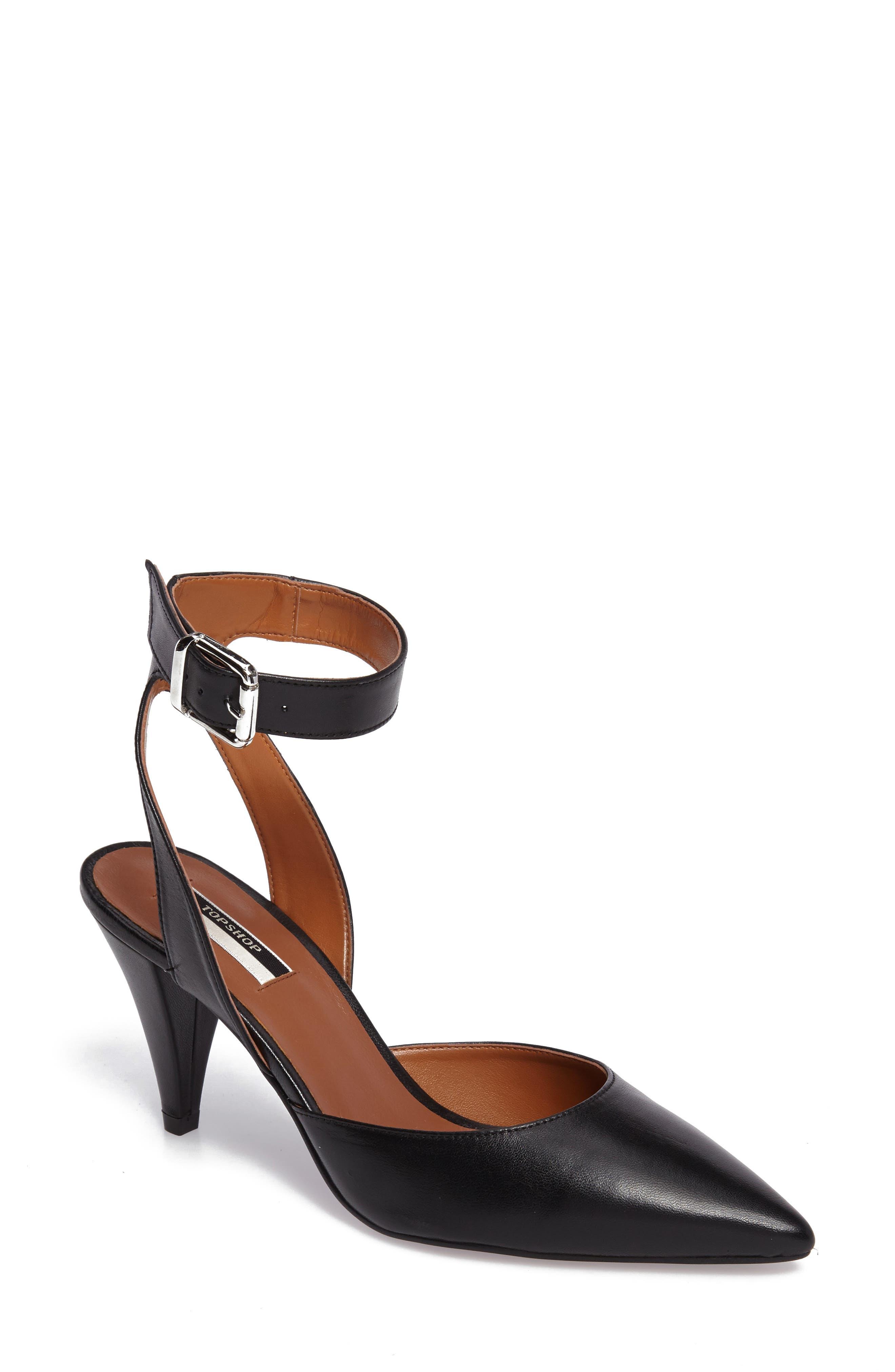 Jessa Ankle Strap Pump,                         Main,                         color, 001