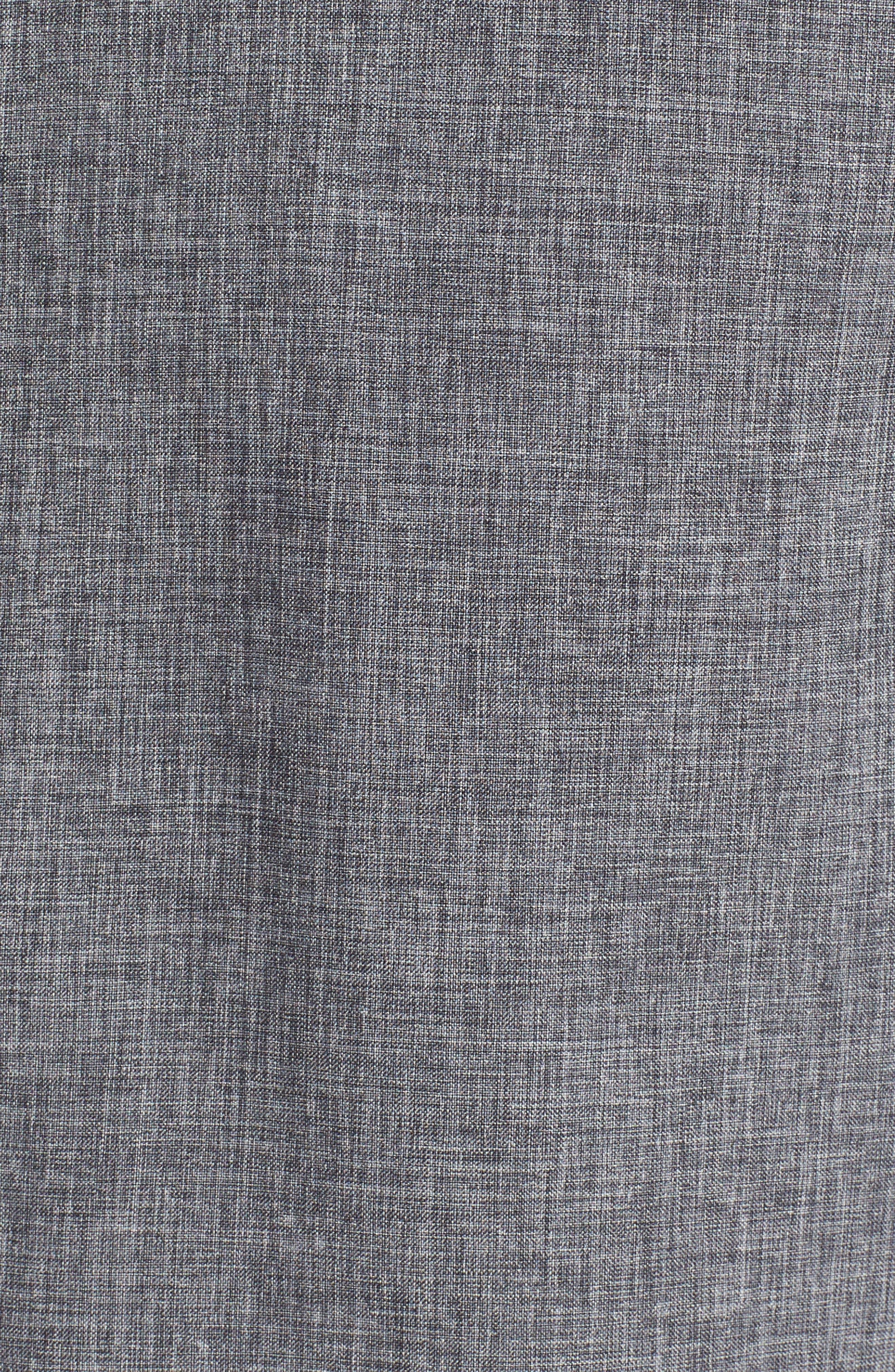 Trim Fit Performance Knit Sport Shirt,                             Alternate thumbnail 5, color,                             CHARCOAL SCRATCH