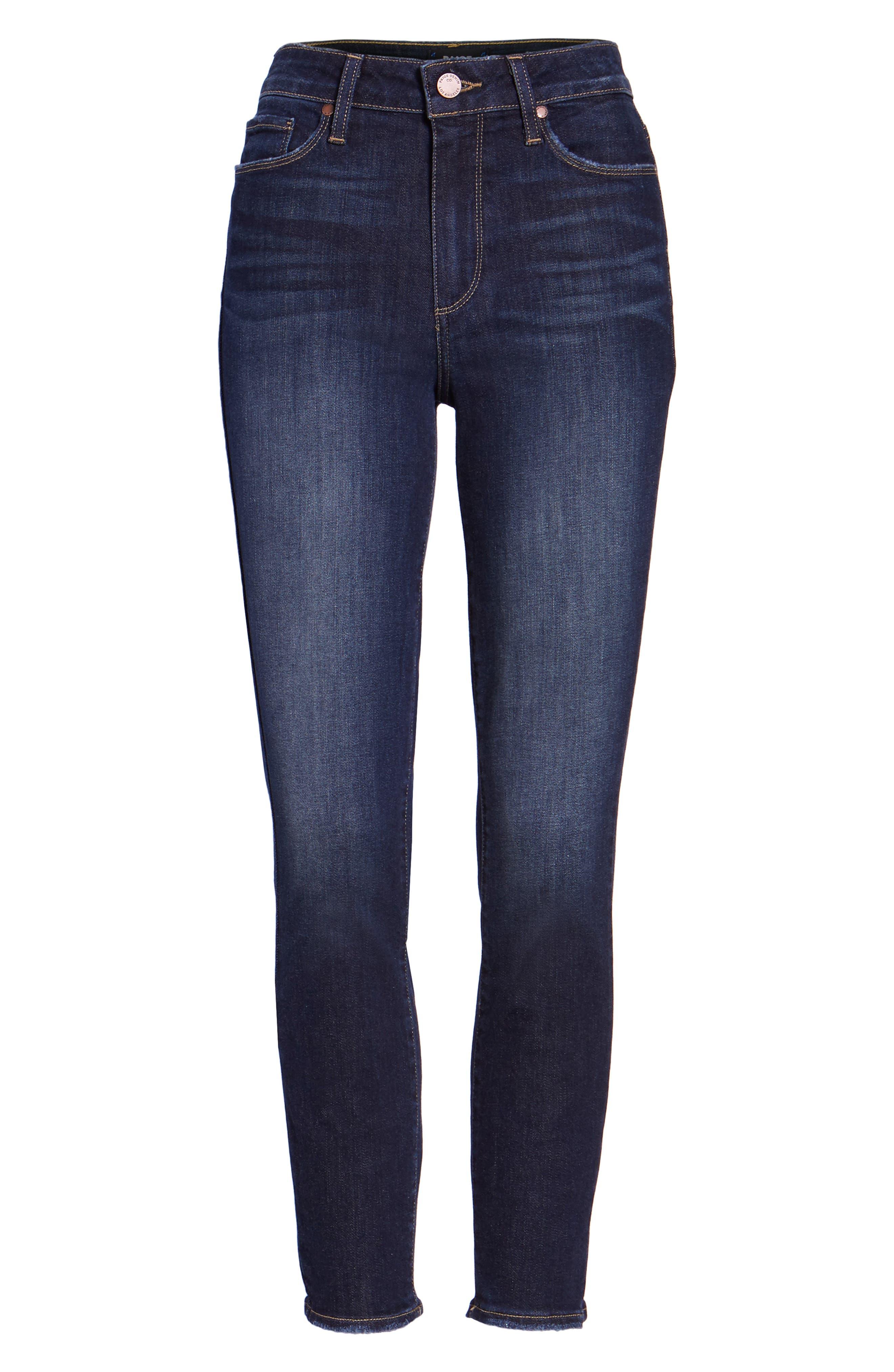Hoxton Crop High Waist Skinny Jeans,                             Alternate thumbnail 6, color,                             400