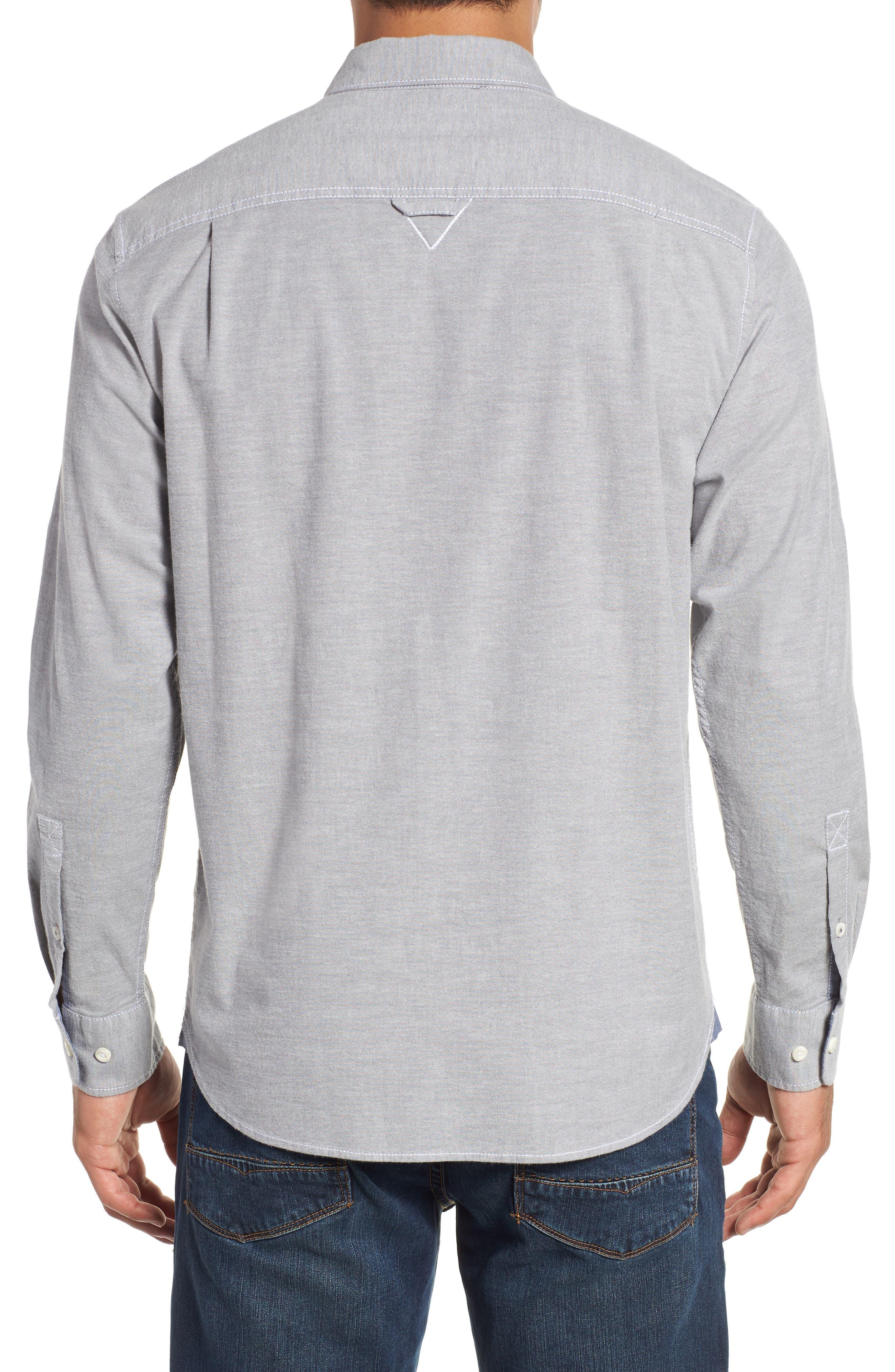 Oxford Isles Sport Shirt,                             Alternate thumbnail 3, color,                             CAVE