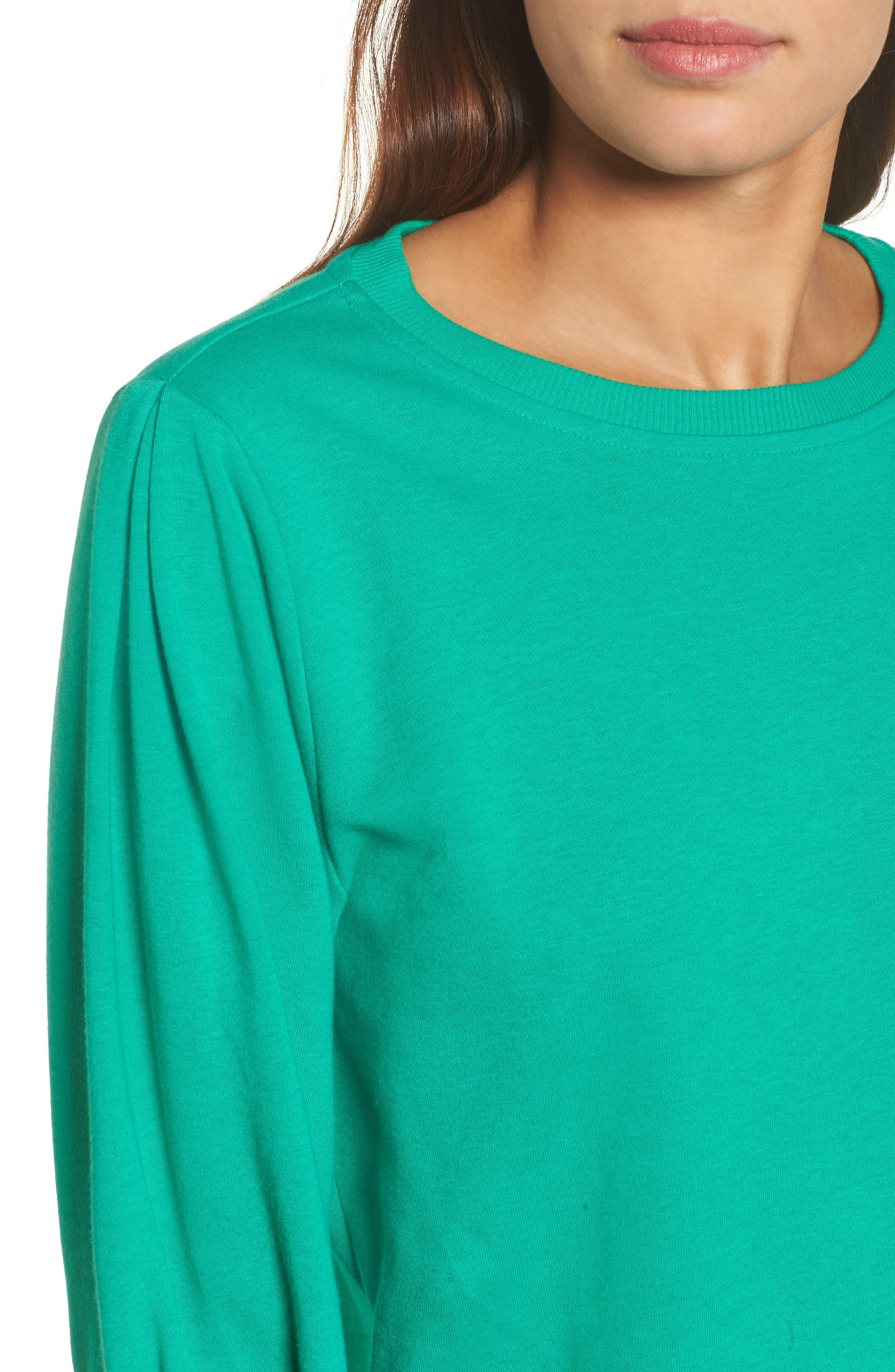Blouson Sleeve Sweatshirt,                             Alternate thumbnail 18, color,