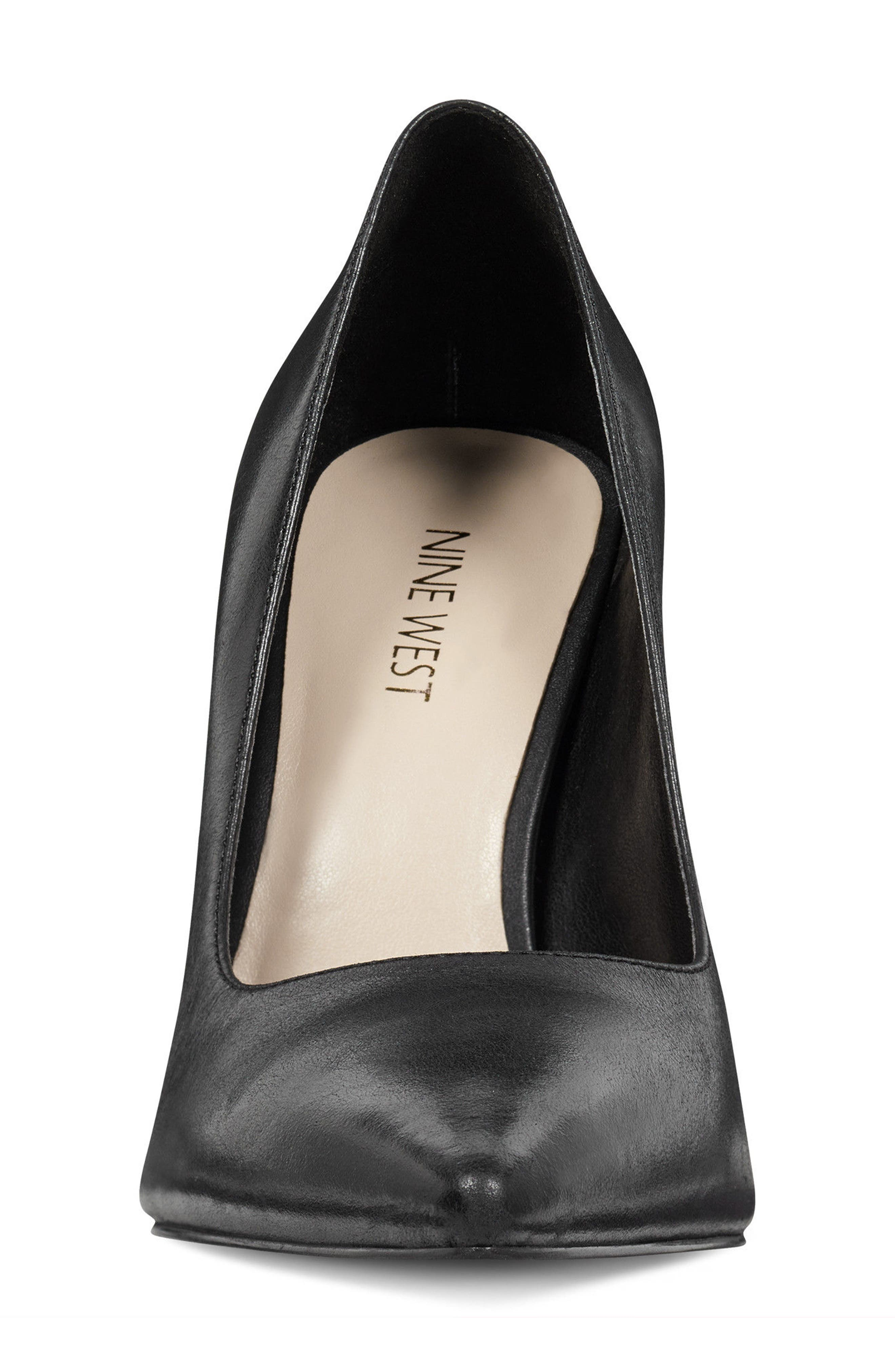 NINE WEST,                             Henra Pointy Toe Pump,                             Alternate thumbnail 4, color,                             001