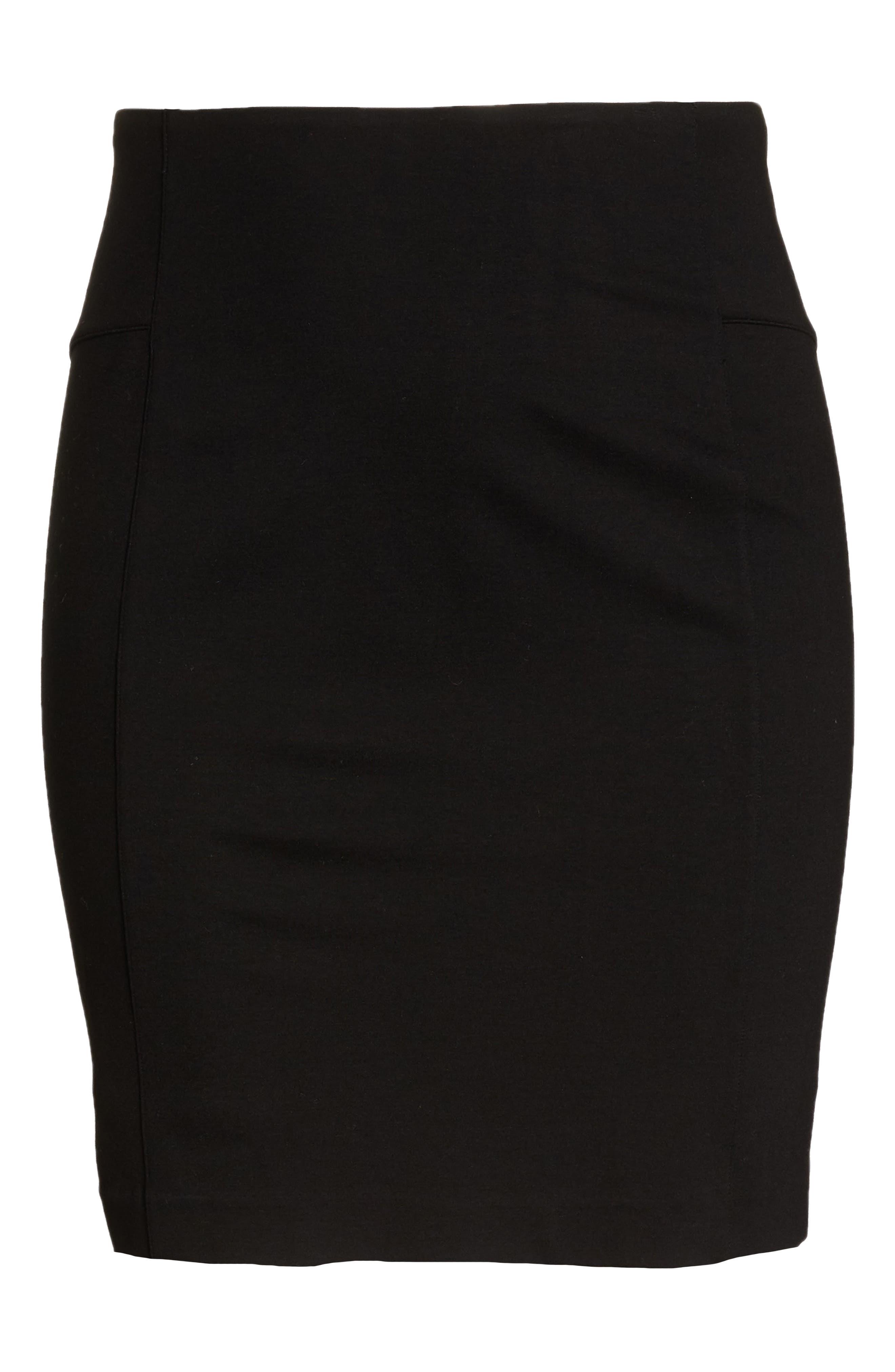 Perfect High Waist Skirt,                             Alternate thumbnail 6, color,                             BLACK