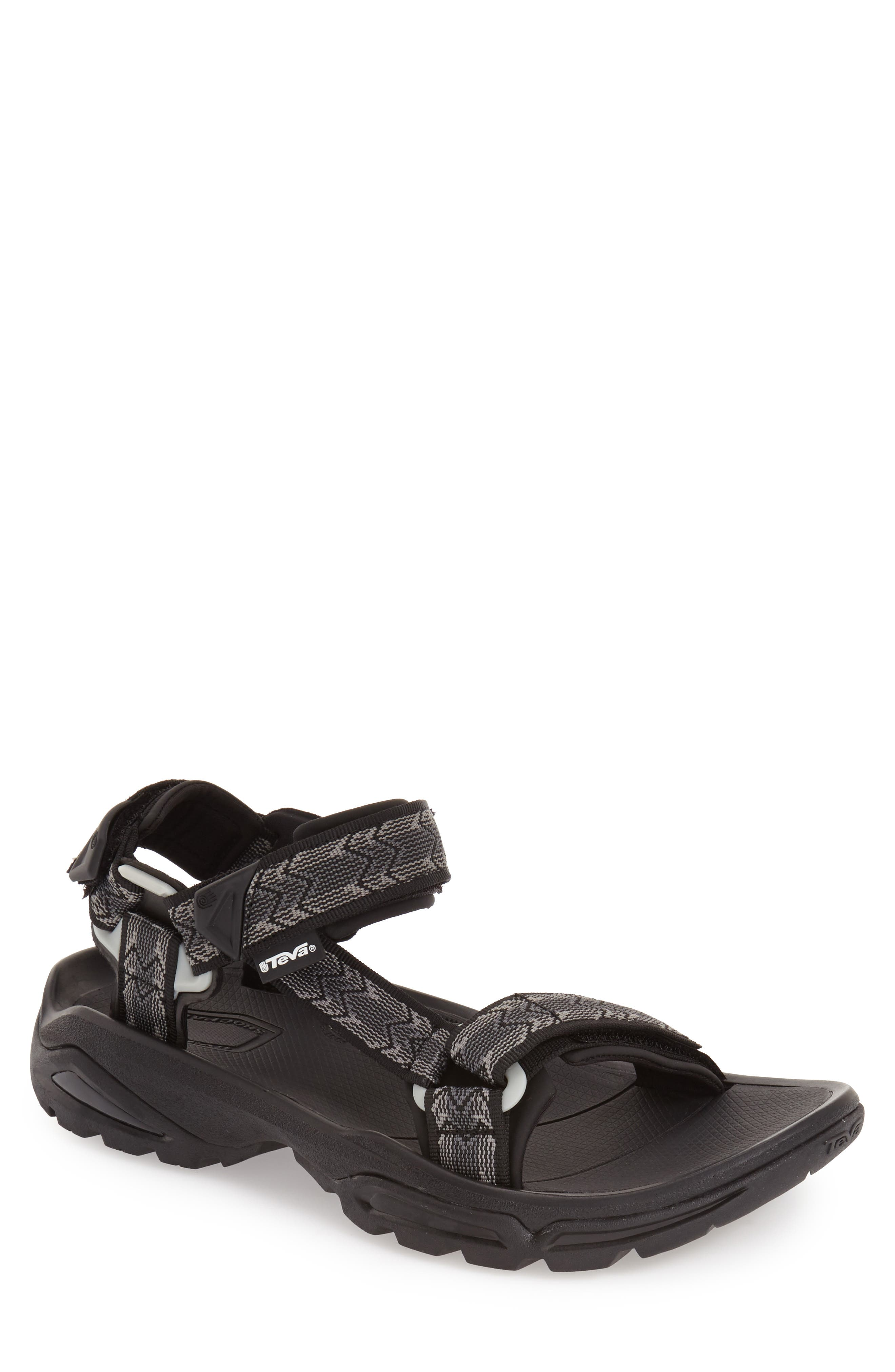 'Terra Fi 4' Sandal,                             Alternate thumbnail 4, color,                             CROSS TERRA BLACK