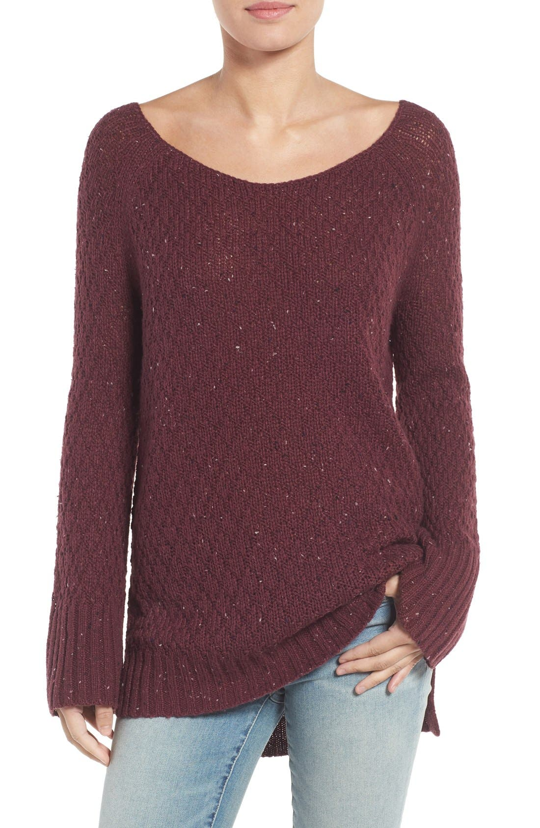 Slouchy Tunic Sweater,                             Main thumbnail 4, color,