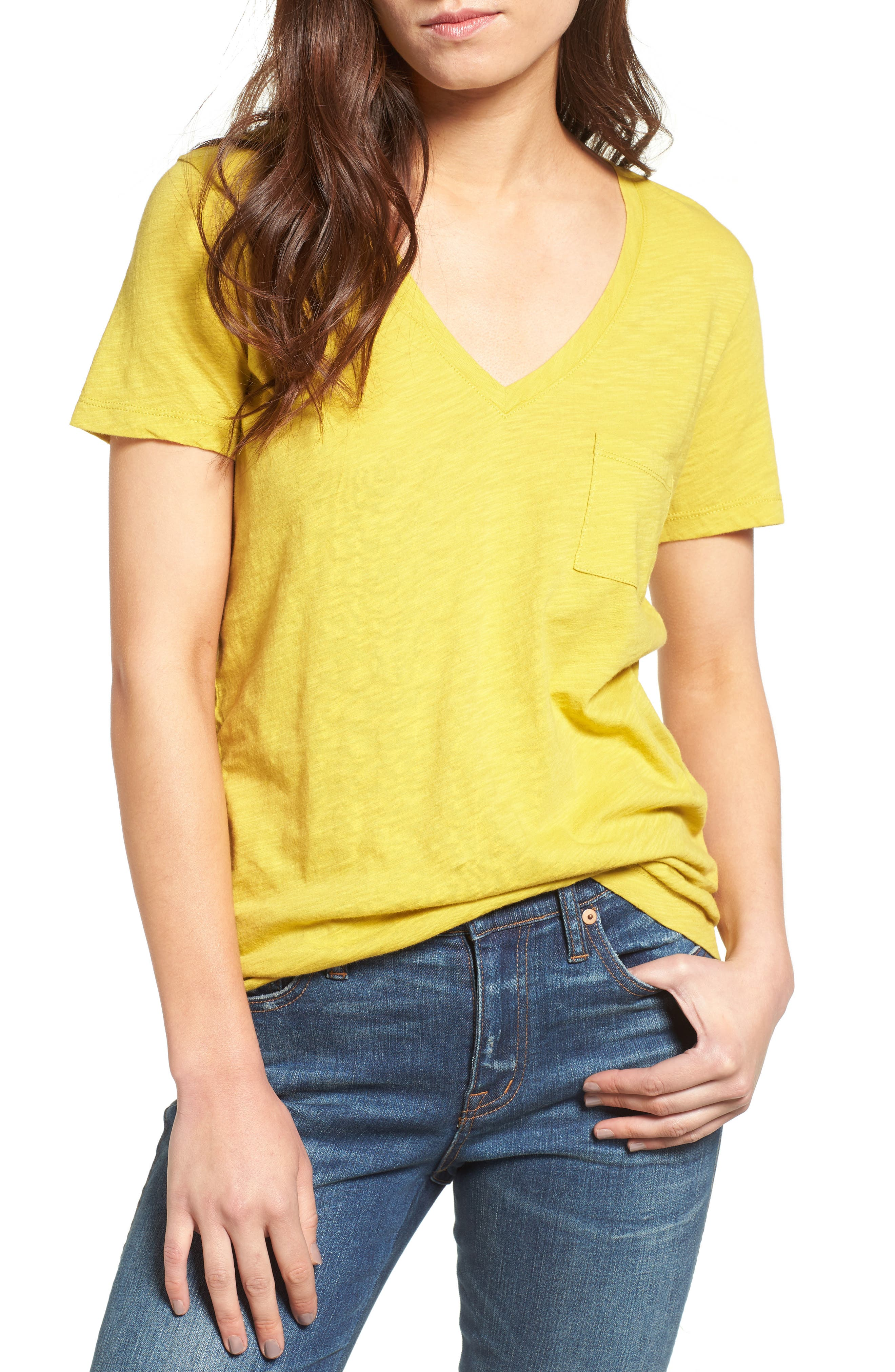Whisper Cotton V-Neck Pocket Tee,                             Main thumbnail 19, color,