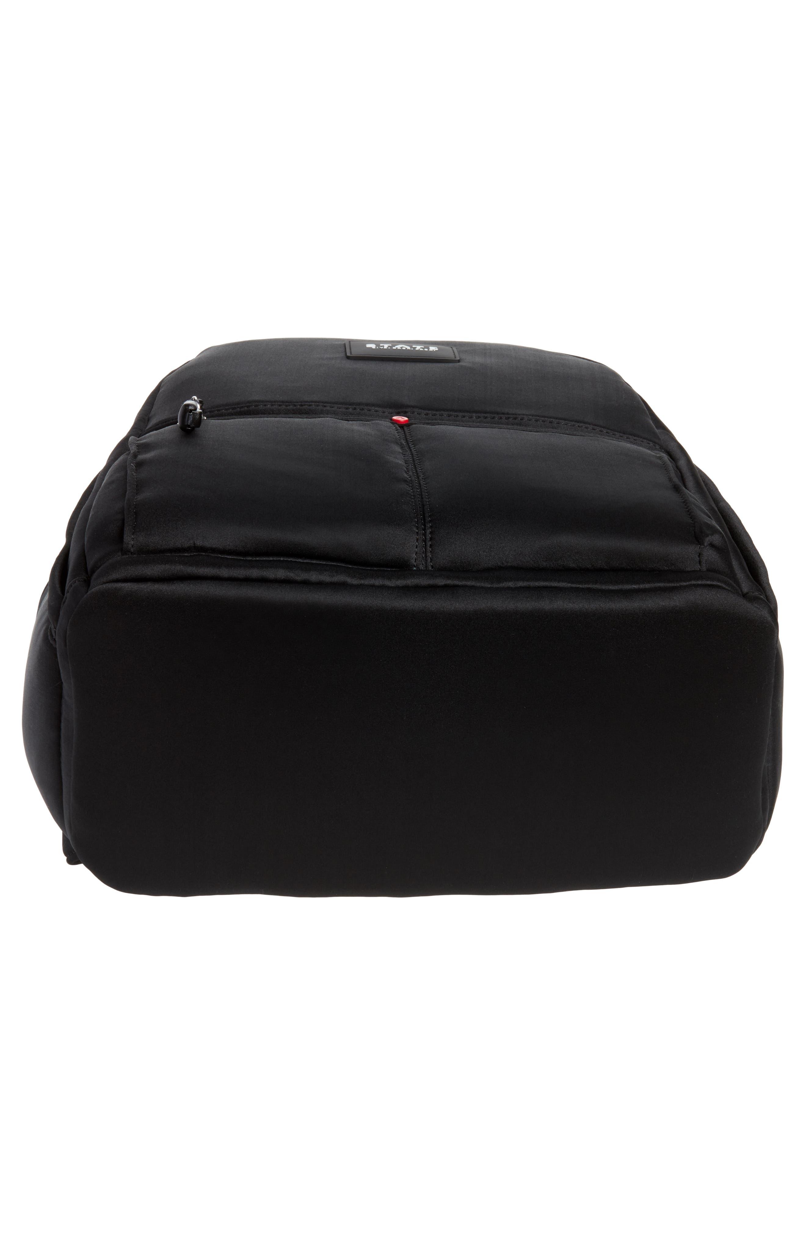 Bedford Neoprene Backpack,                             Alternate thumbnail 6, color,                             BLACK