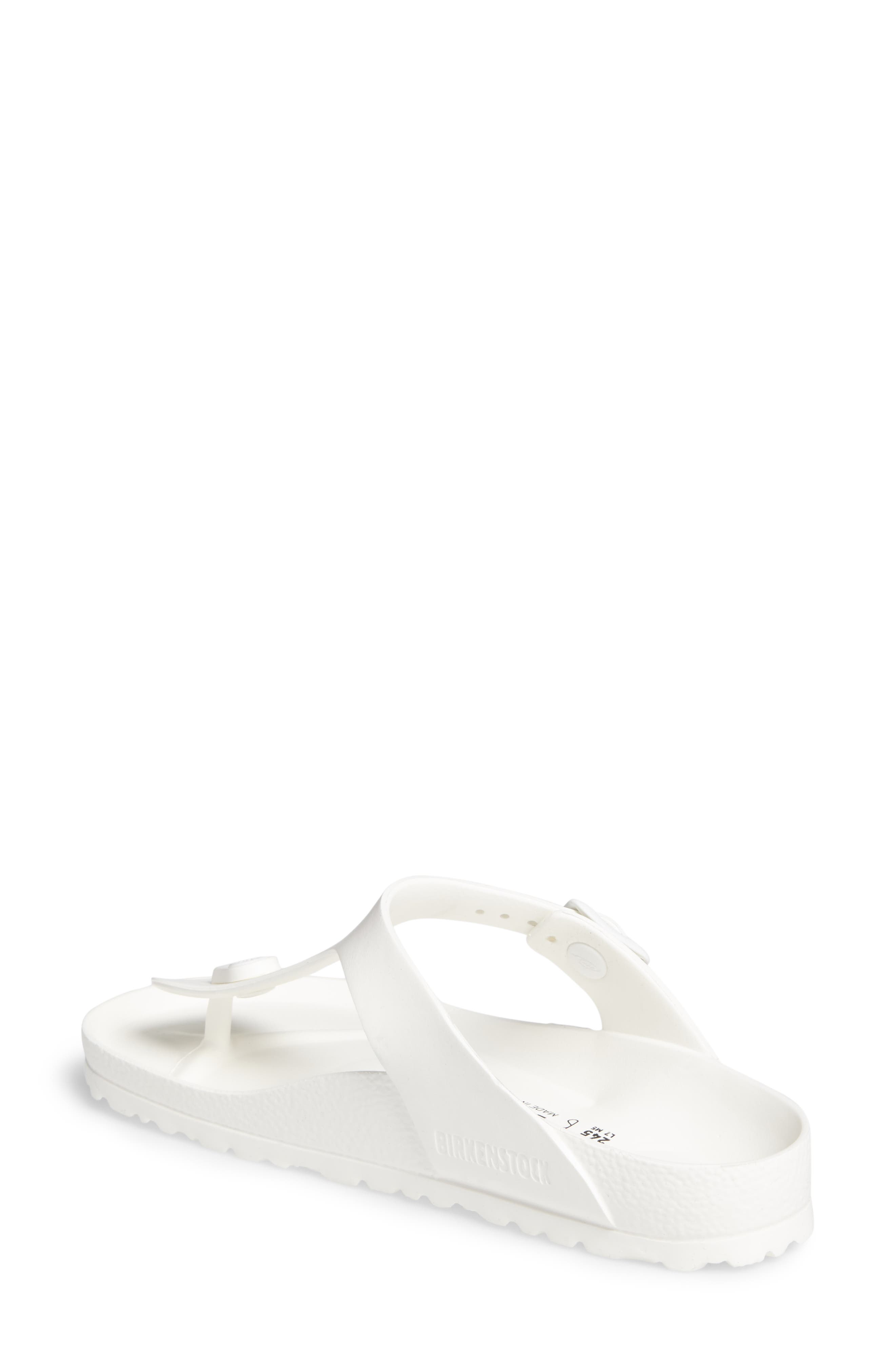 Essentials - Gizeh Flip Flop,                             Alternate thumbnail 2, color,                             WHITE