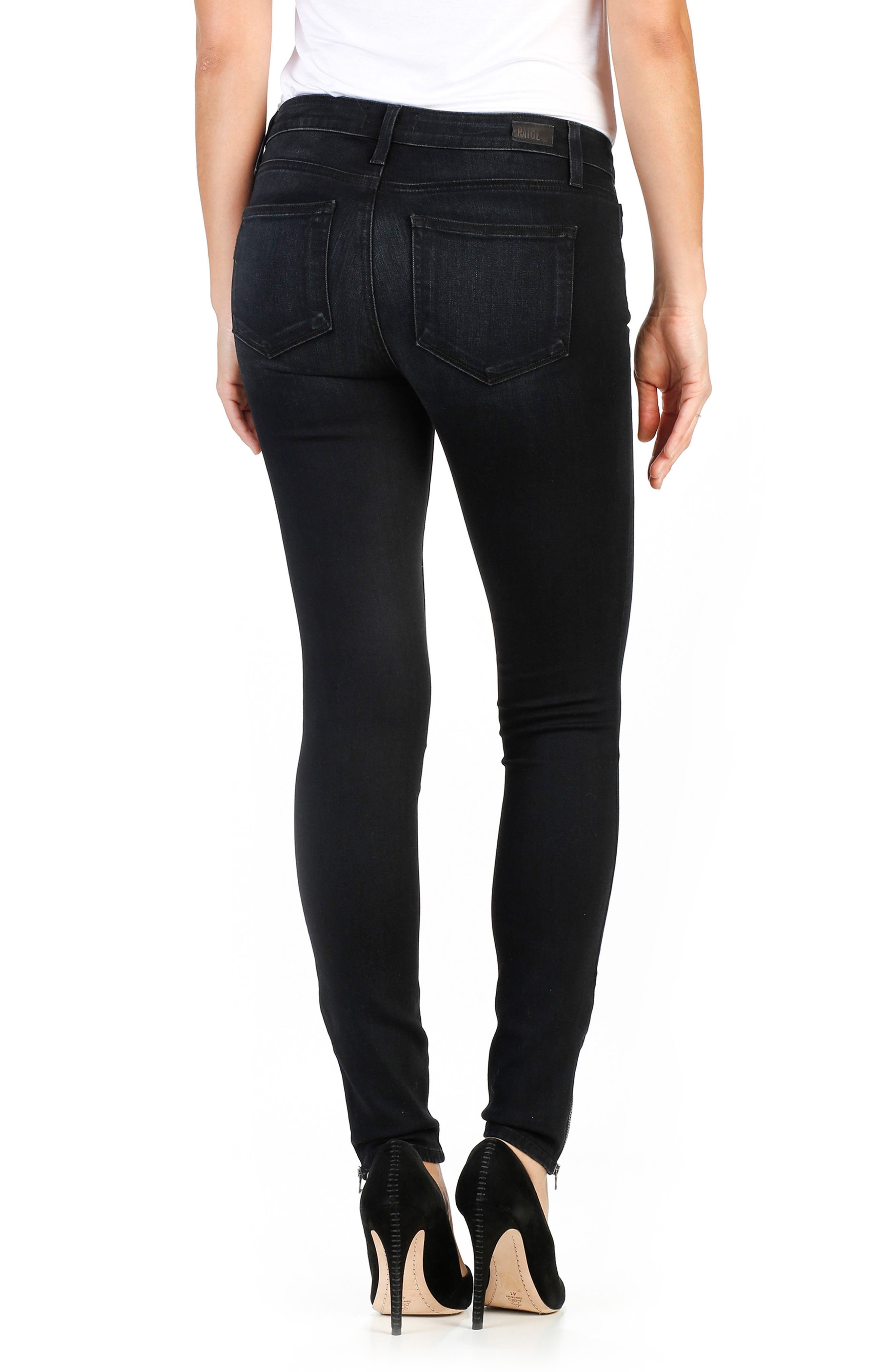 Transcend - Jill Zip Ultra Skinny Jeans,                             Alternate thumbnail 2, color,                             400