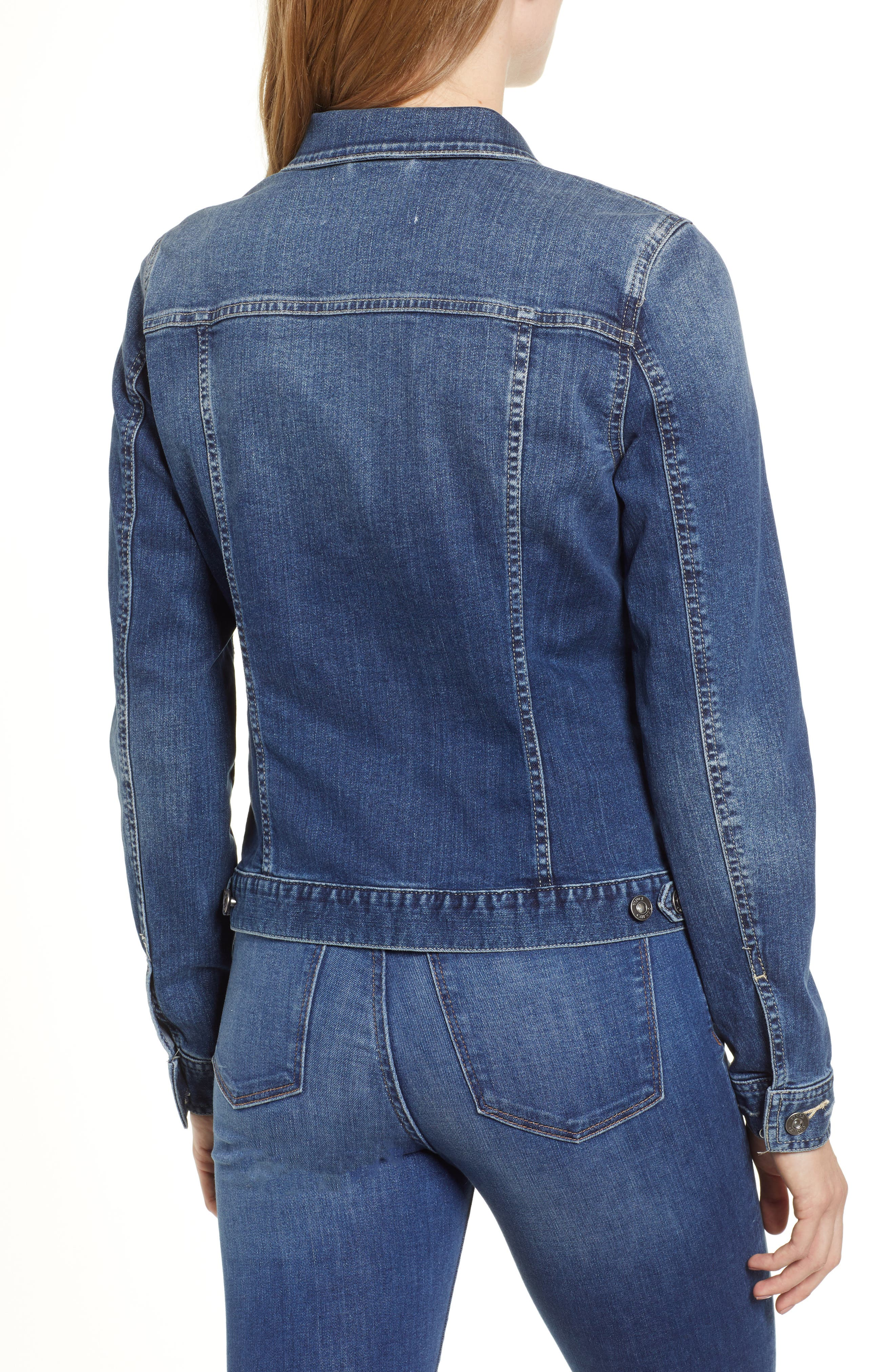 VINCE CAMUTO,                             Two by Vince Camuto Jean Jacket,                             Alternate thumbnail 3, color,                             AUTHENTIC