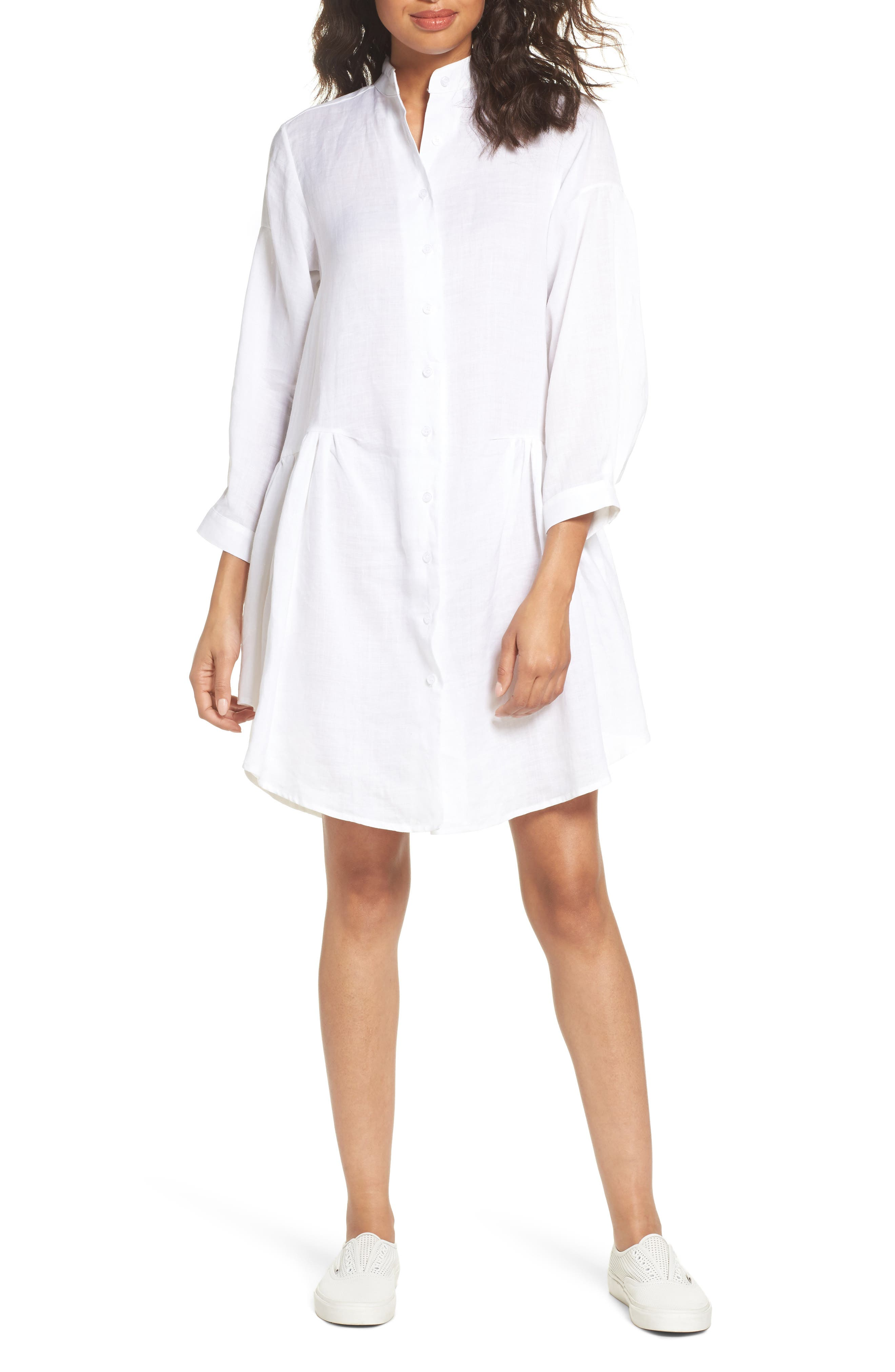 Tria Linen Shirtdress,                         Main,                         color,