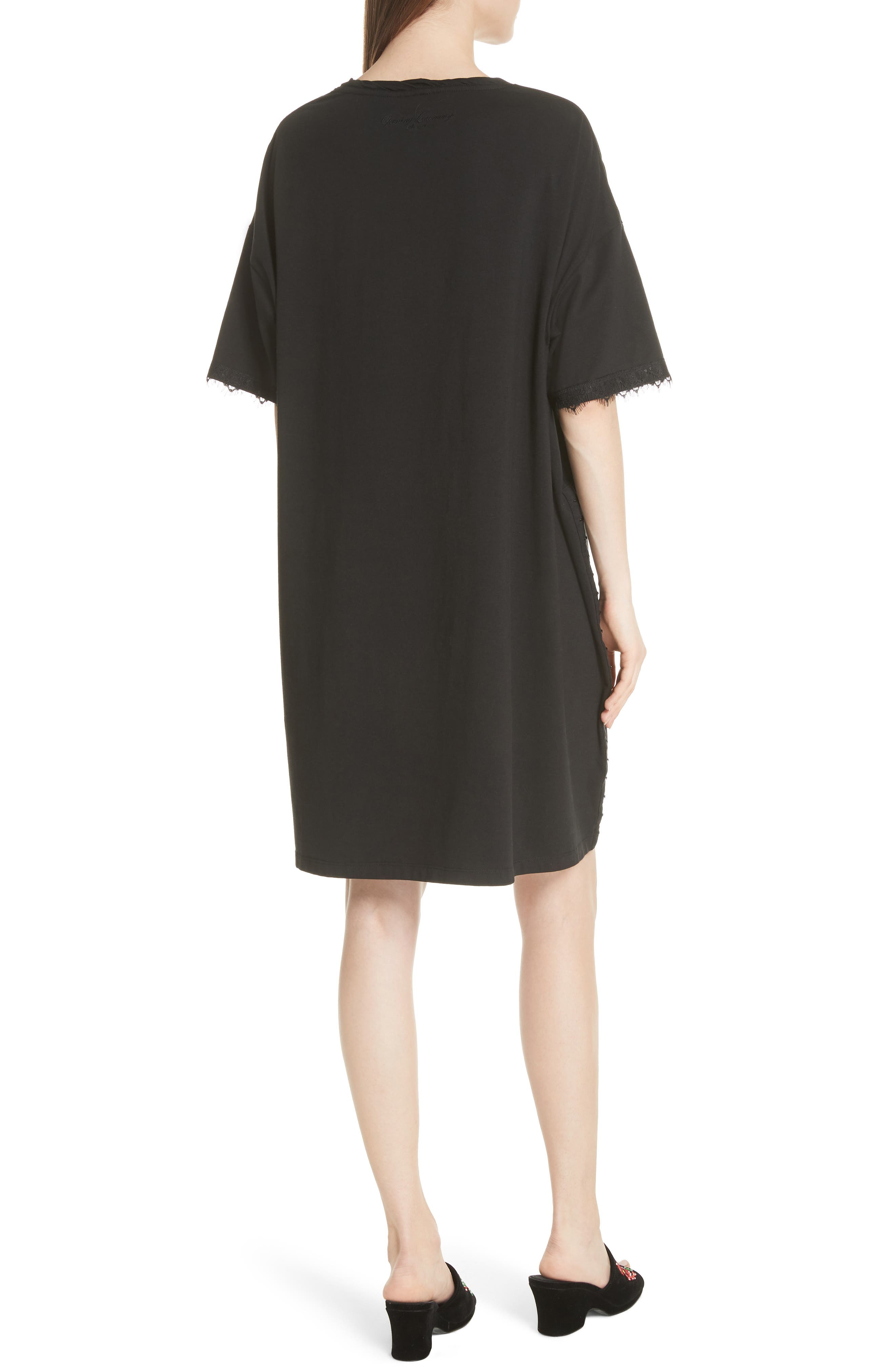 OPENING CEREMONY,                             Hook-and-Eye T-Shirt Dress,                             Alternate thumbnail 2, color,                             014