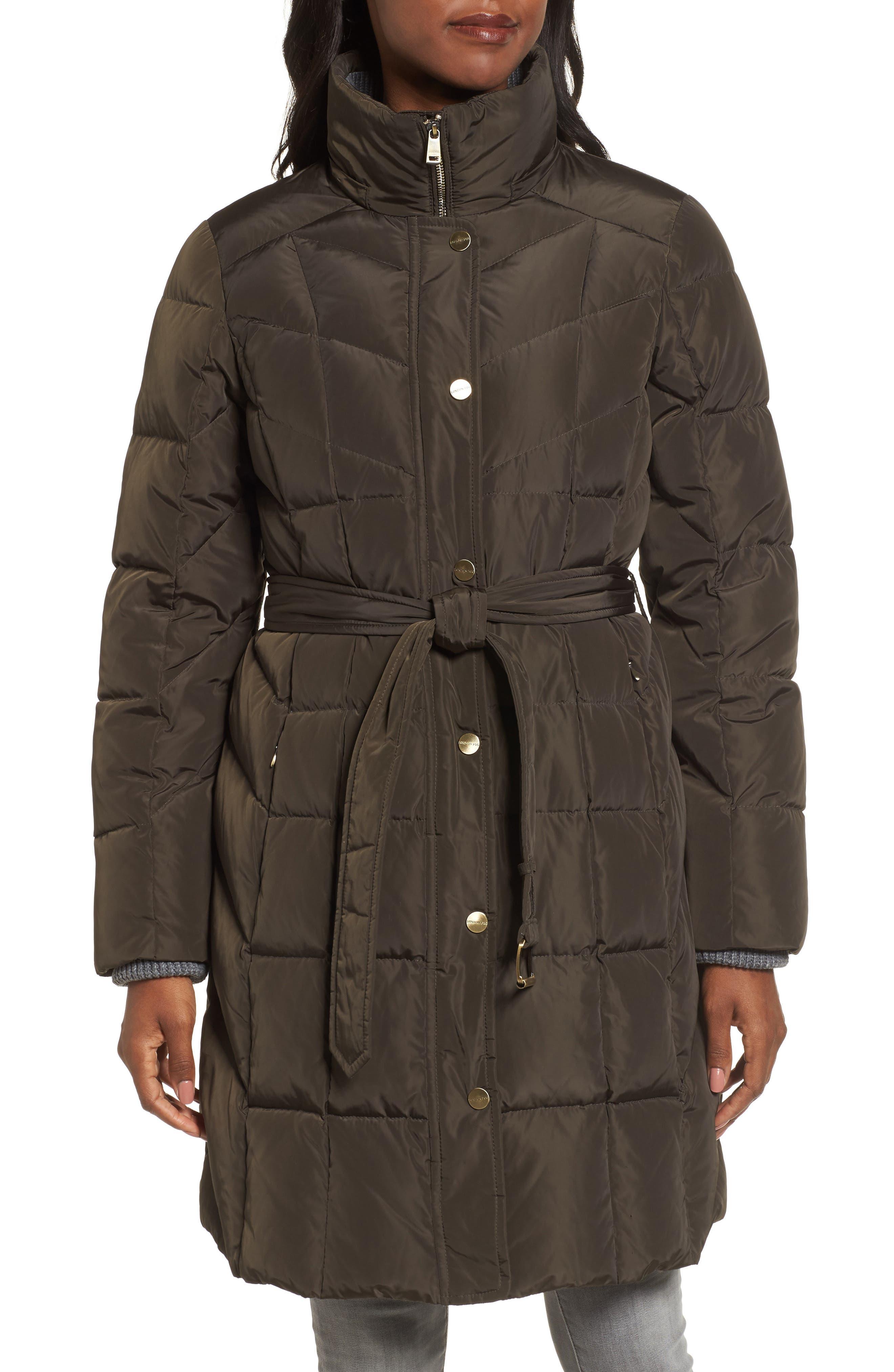 Down Coat with Faux Fur Trim,                             Alternate thumbnail 8, color,