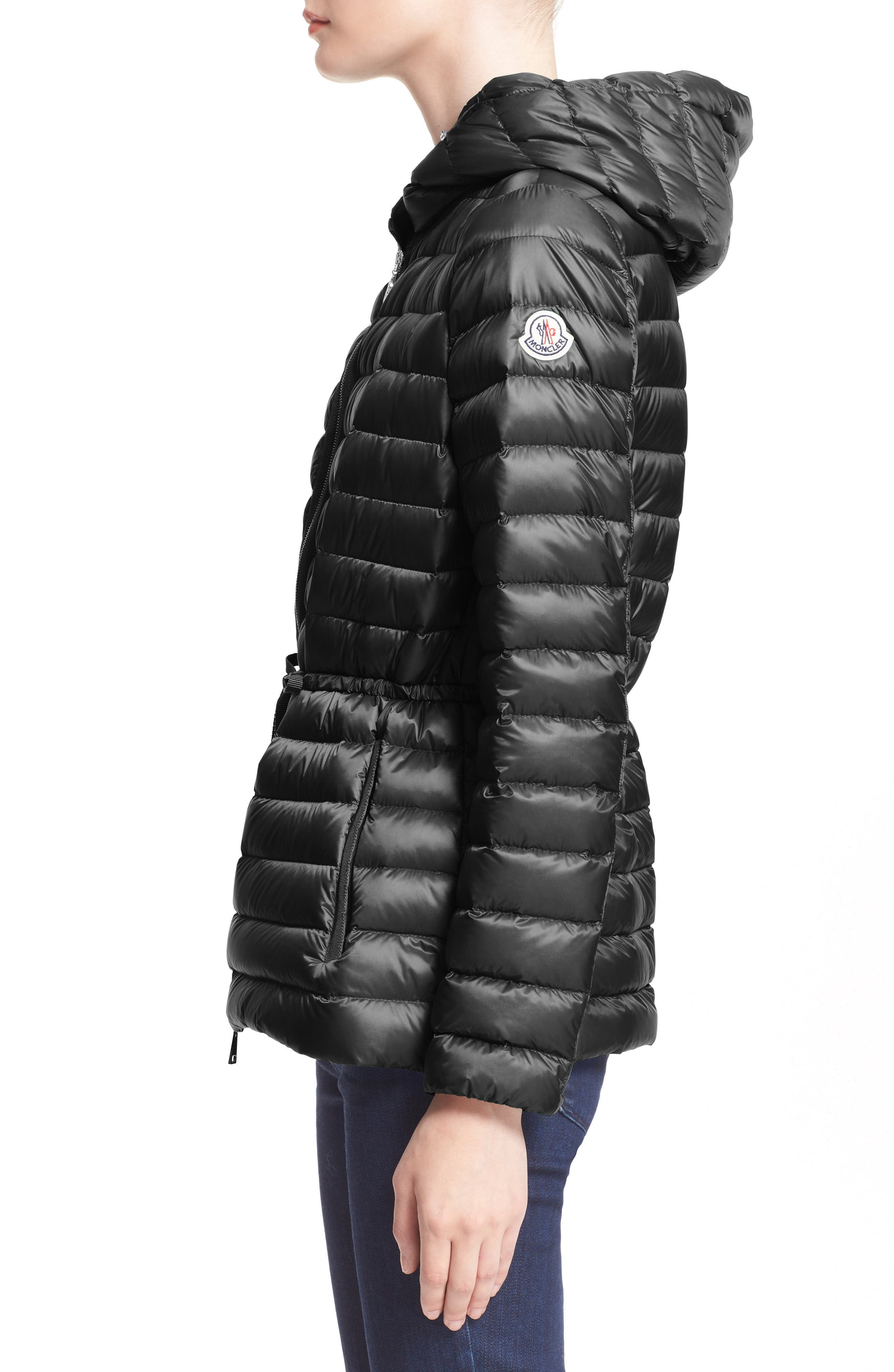 'Raie' Water Resistant Hooded Down Jacket,                             Alternate thumbnail 3, color,                             002