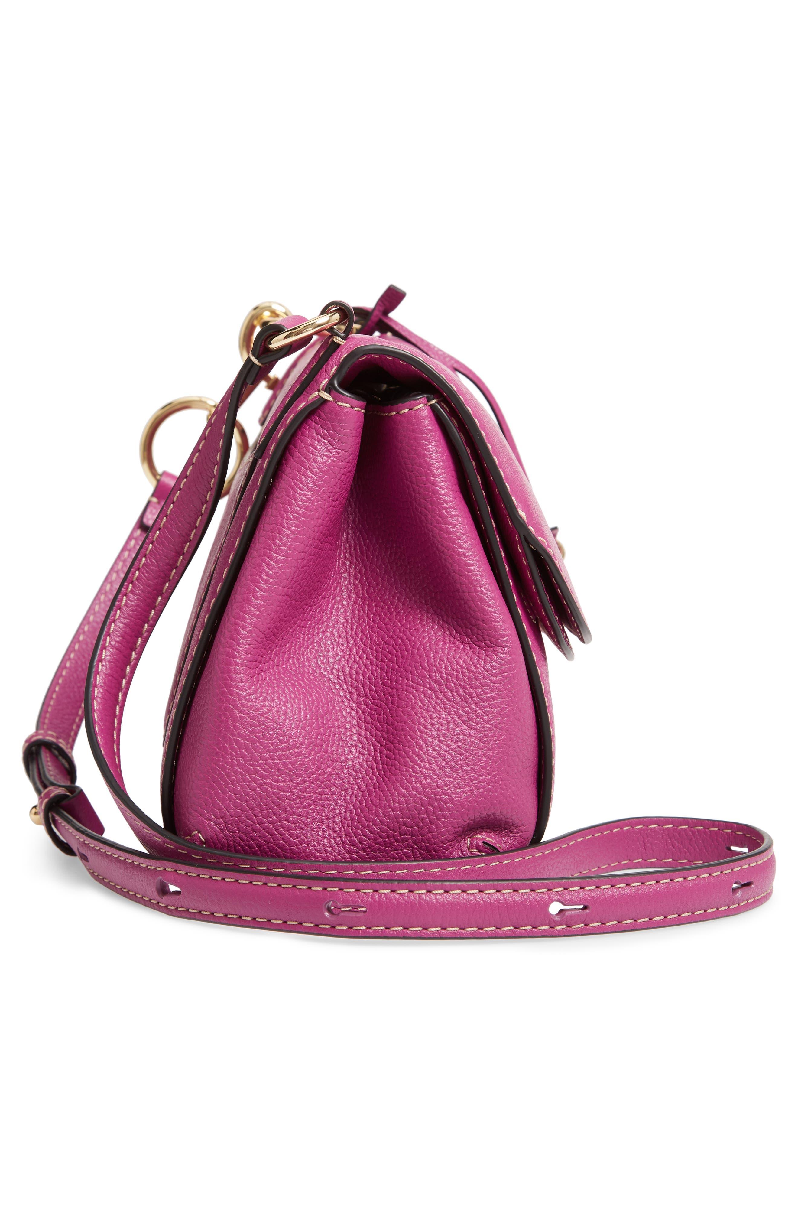 The Grind Boho Leather Shoulder Bag,                             Alternate thumbnail 5, color,                             RHUBARB