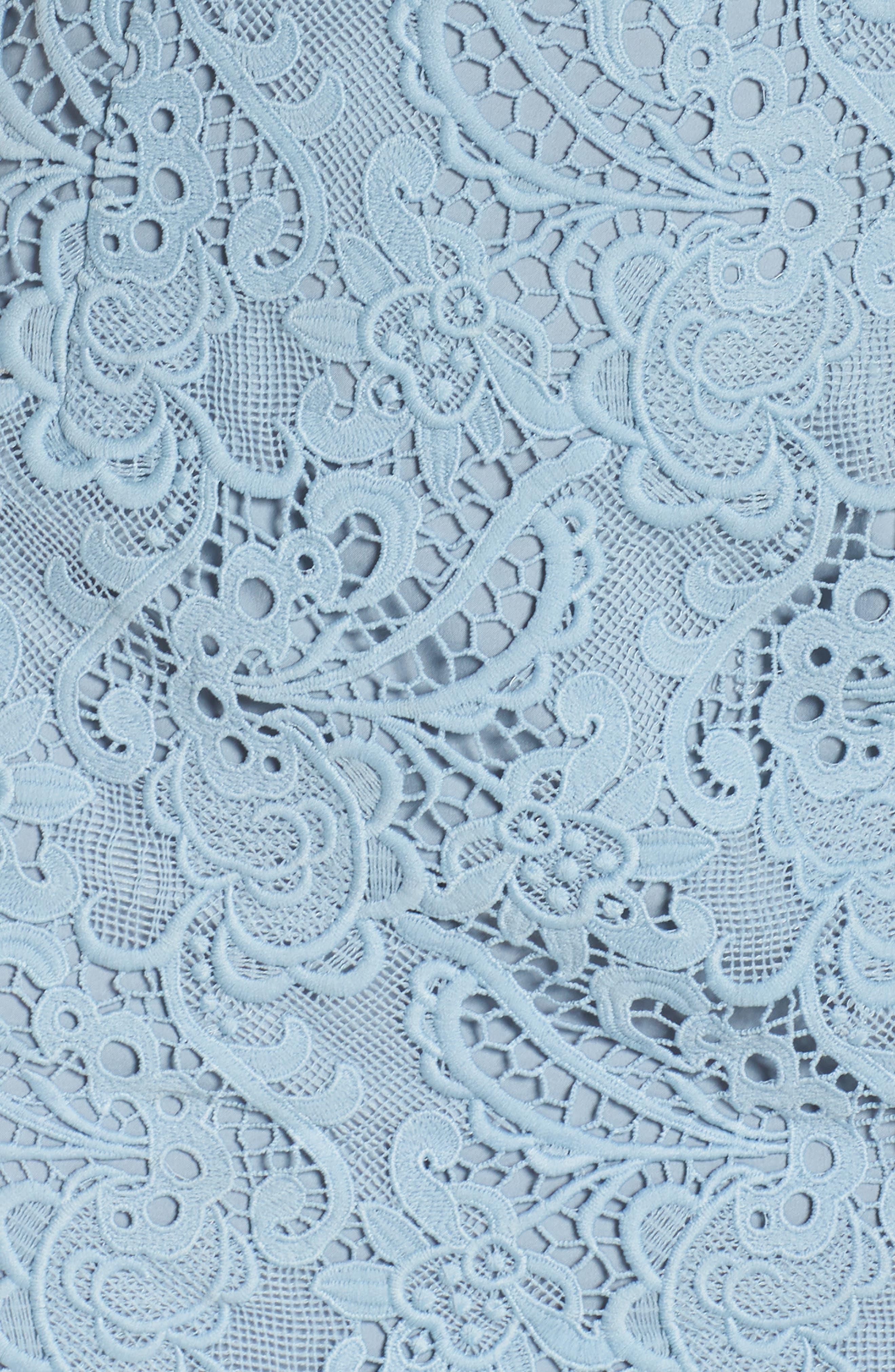Lace Sheath Dress,                             Alternate thumbnail 6, color,                             420