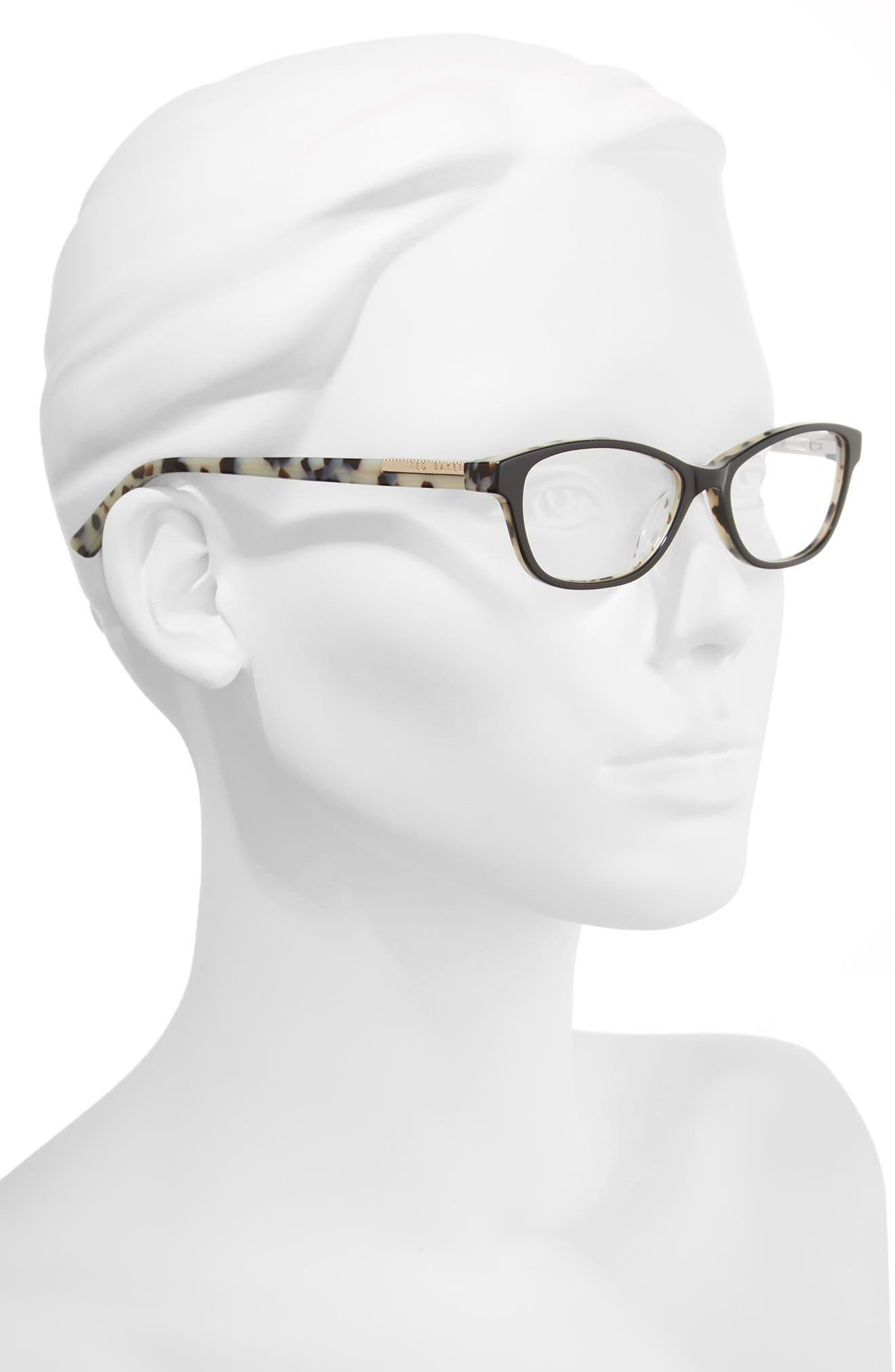 50mm Optical Cat Eye Glasses,                             Alternate thumbnail 2, color,                             001