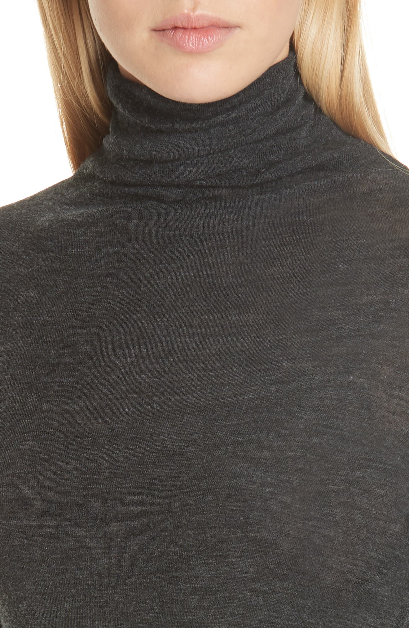 Wool Turtleneck Top,                             Alternate thumbnail 4, color,                             065