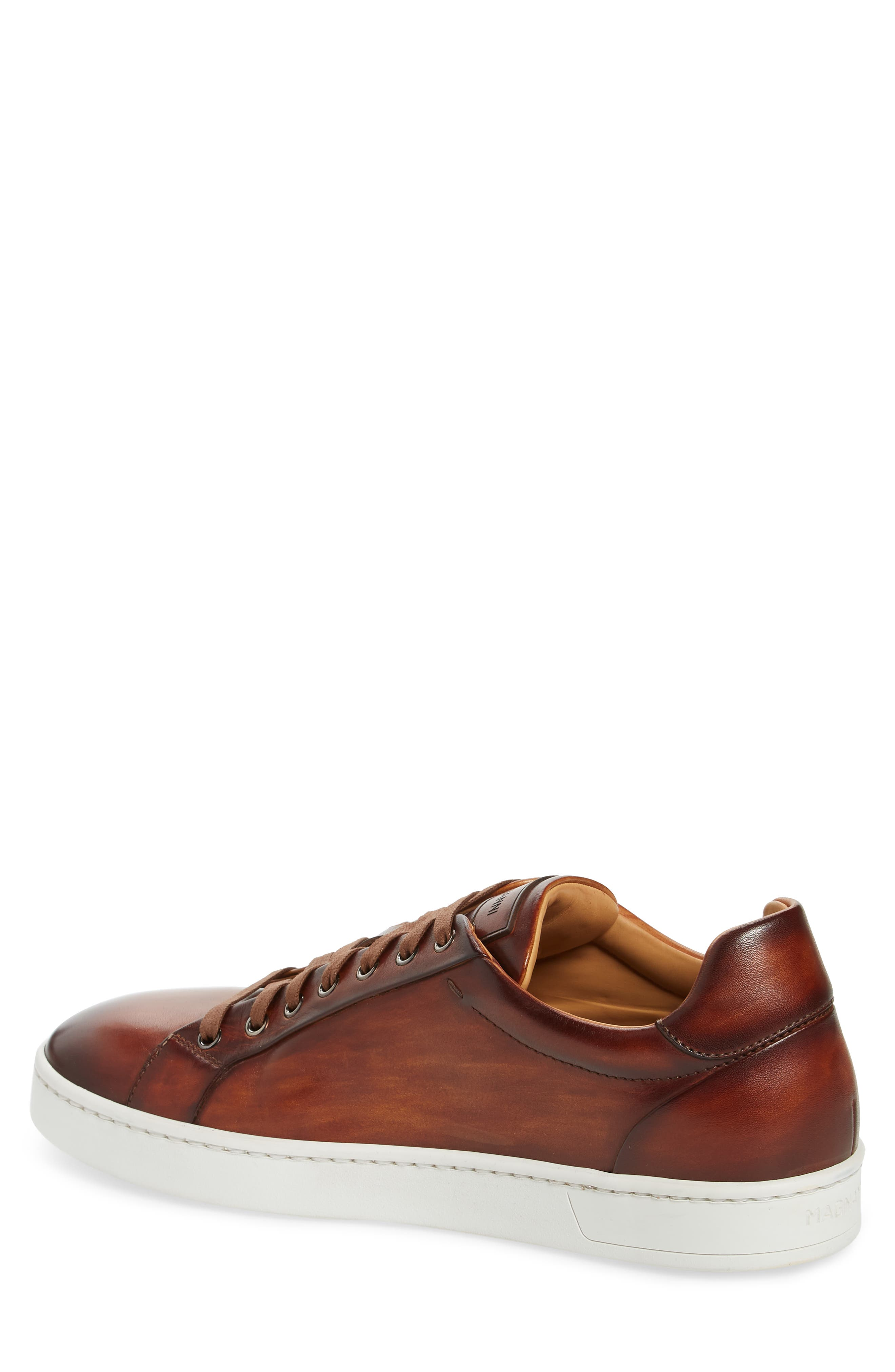 Elonso Low Top Sneaker,                             Alternate thumbnail 2, color,                             COGNAC LEATHER