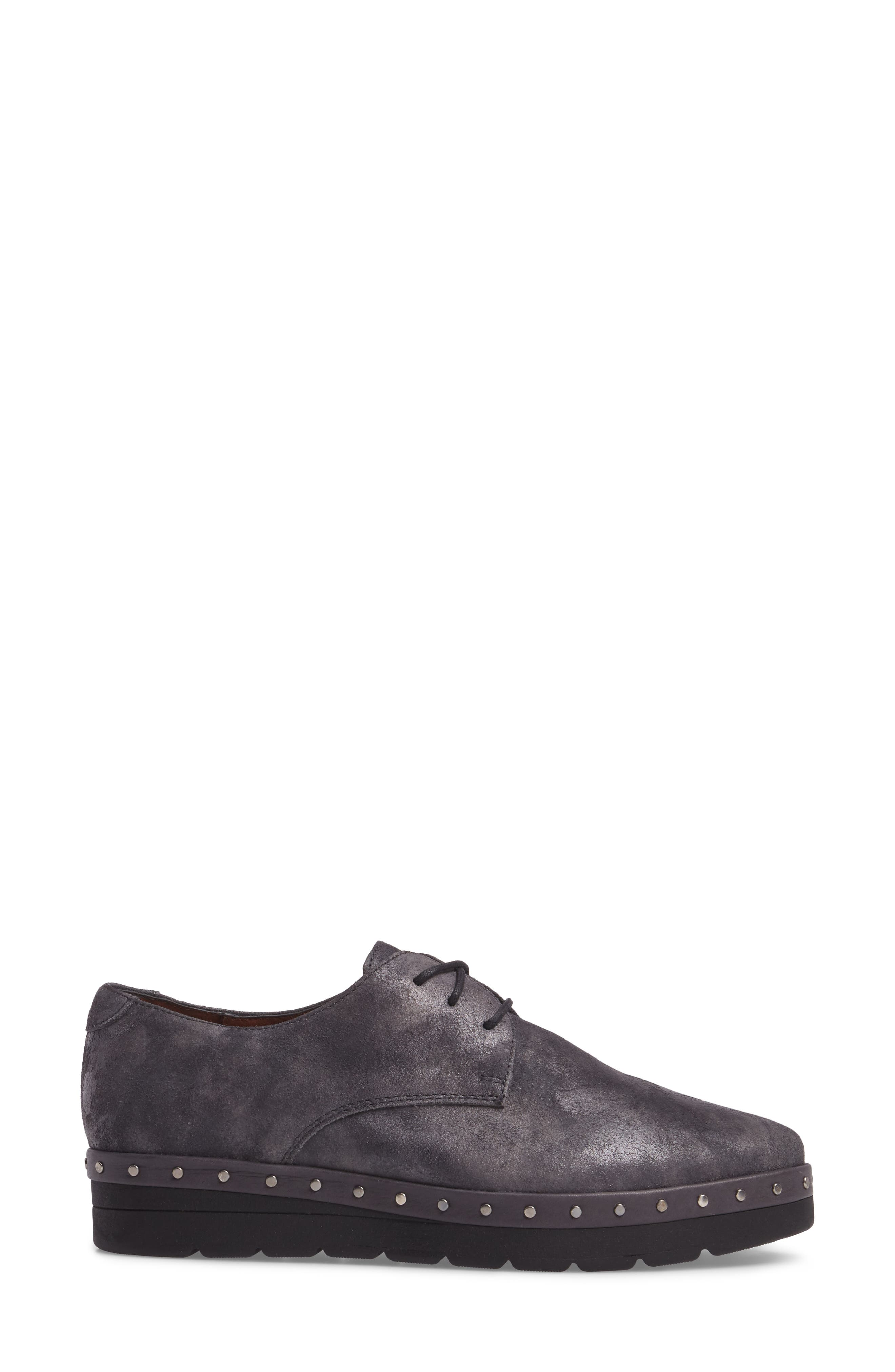 Abbot Oxford,                             Alternate thumbnail 3, color,                             BRUT GREY LEATHER