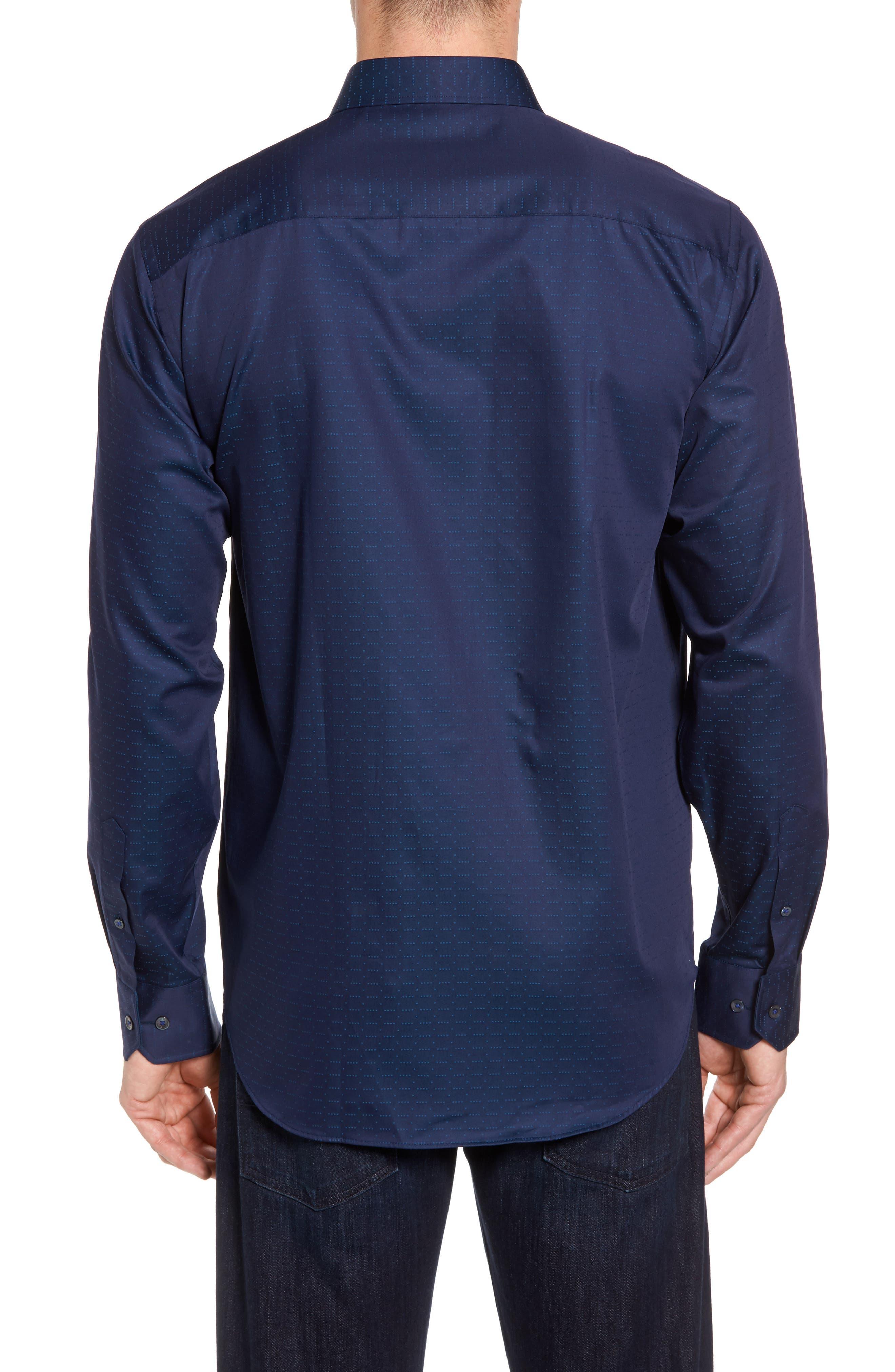Classic Fit Square Dobby Sport Shirt,                             Alternate thumbnail 2, color,                             410