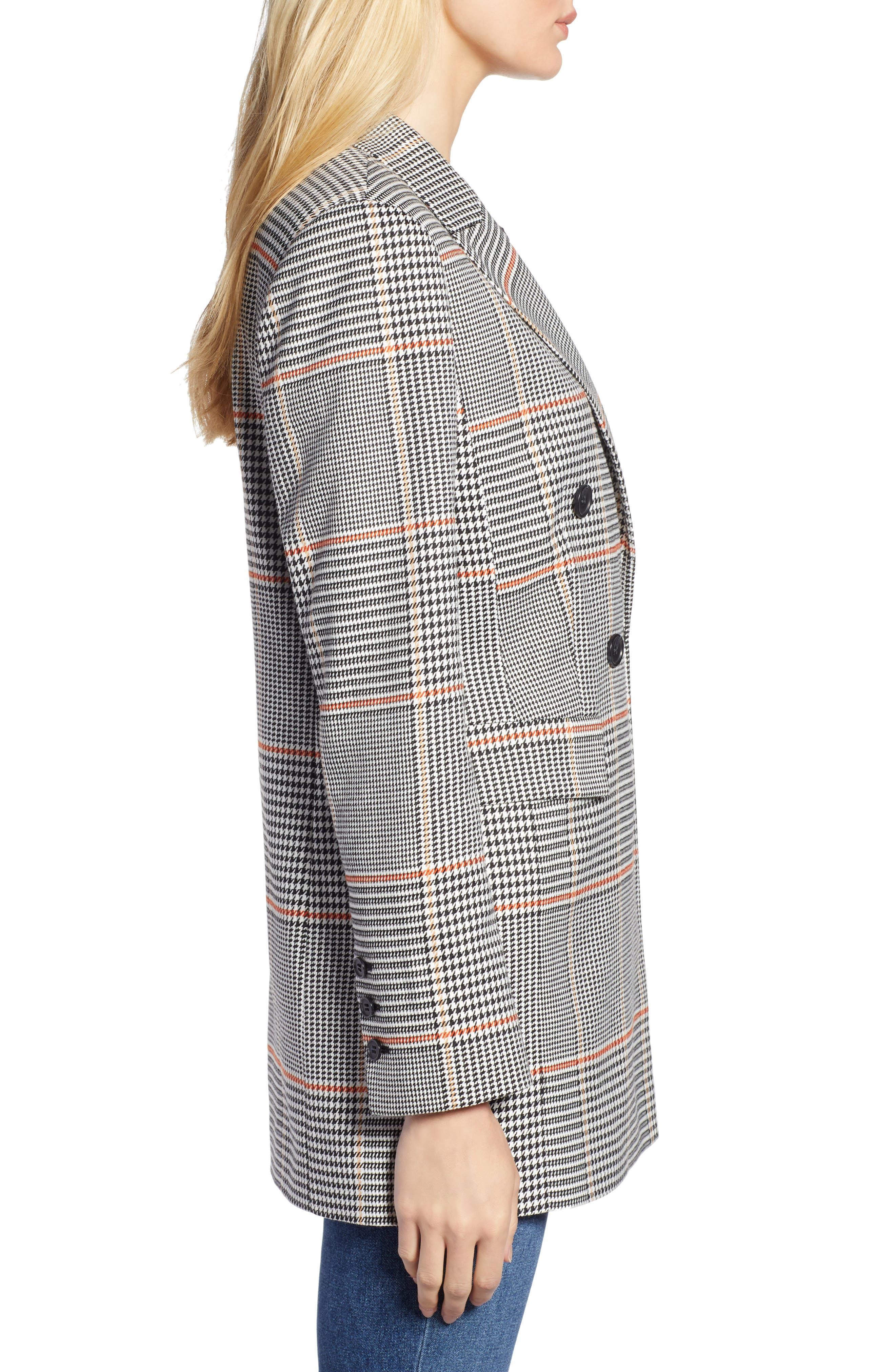 x Atlantic-Pacific Menswear Plaid Blazer,                             Alternate thumbnail 4, color,                             001