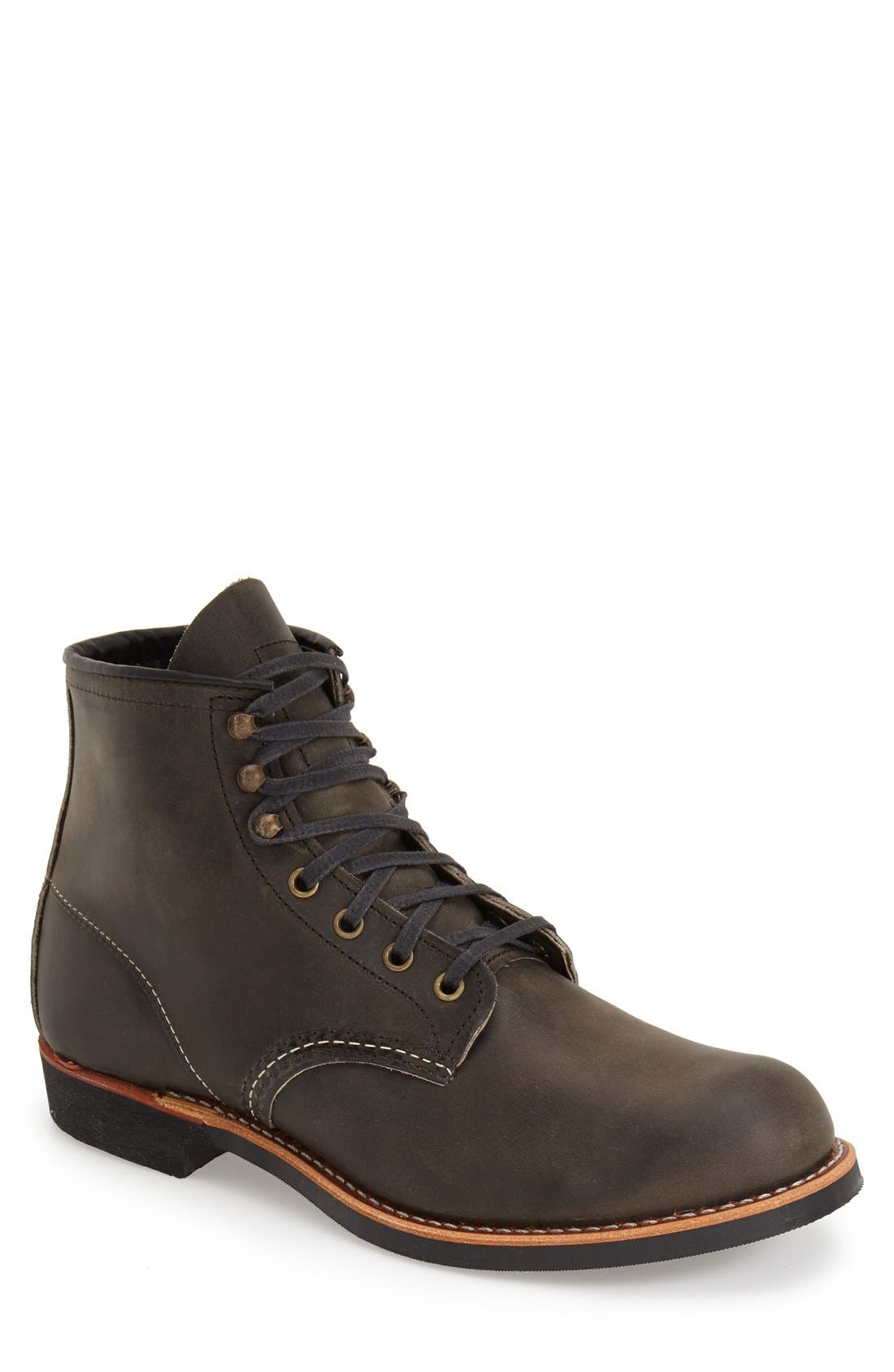 Blacksmith Boot,                         Main,                         color, CHARCOAL LEATHER