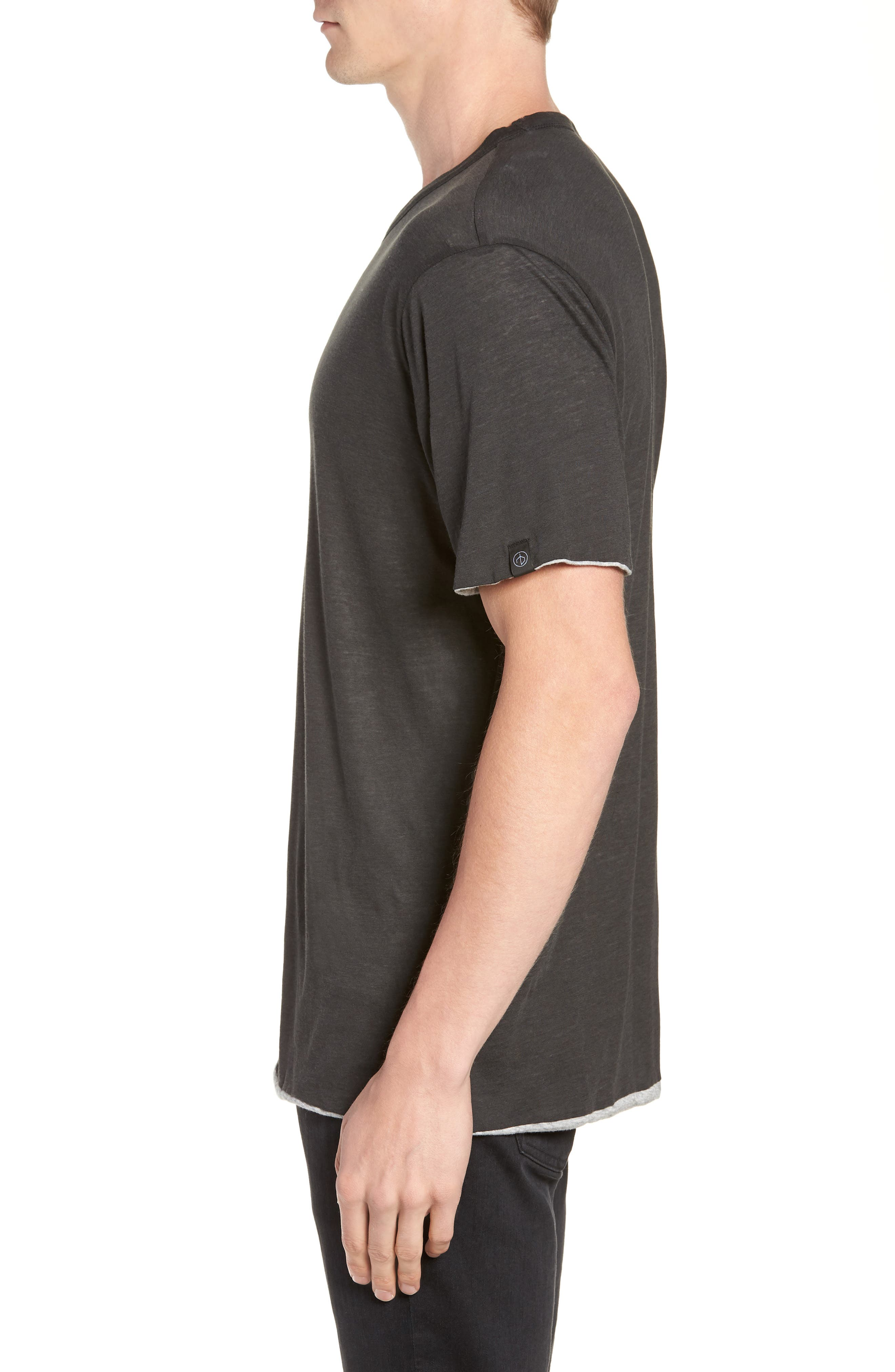 Reversible T-Shirt,                             Alternate thumbnail 3, color,                             IVORY/ GREY