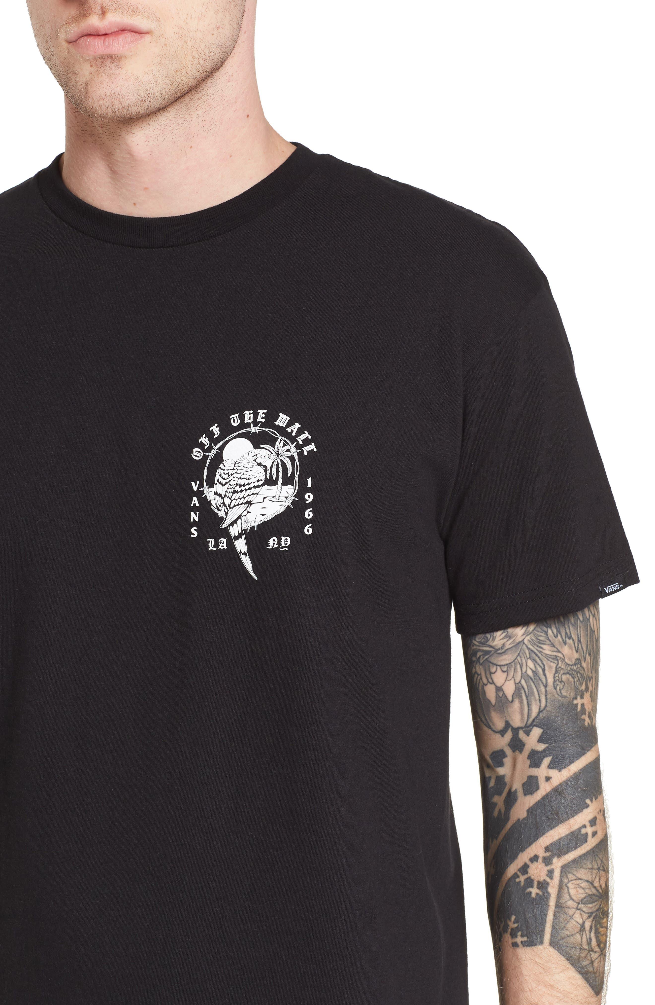 Parrot Beach Graphic T-Shirt,                             Alternate thumbnail 4, color,                             001