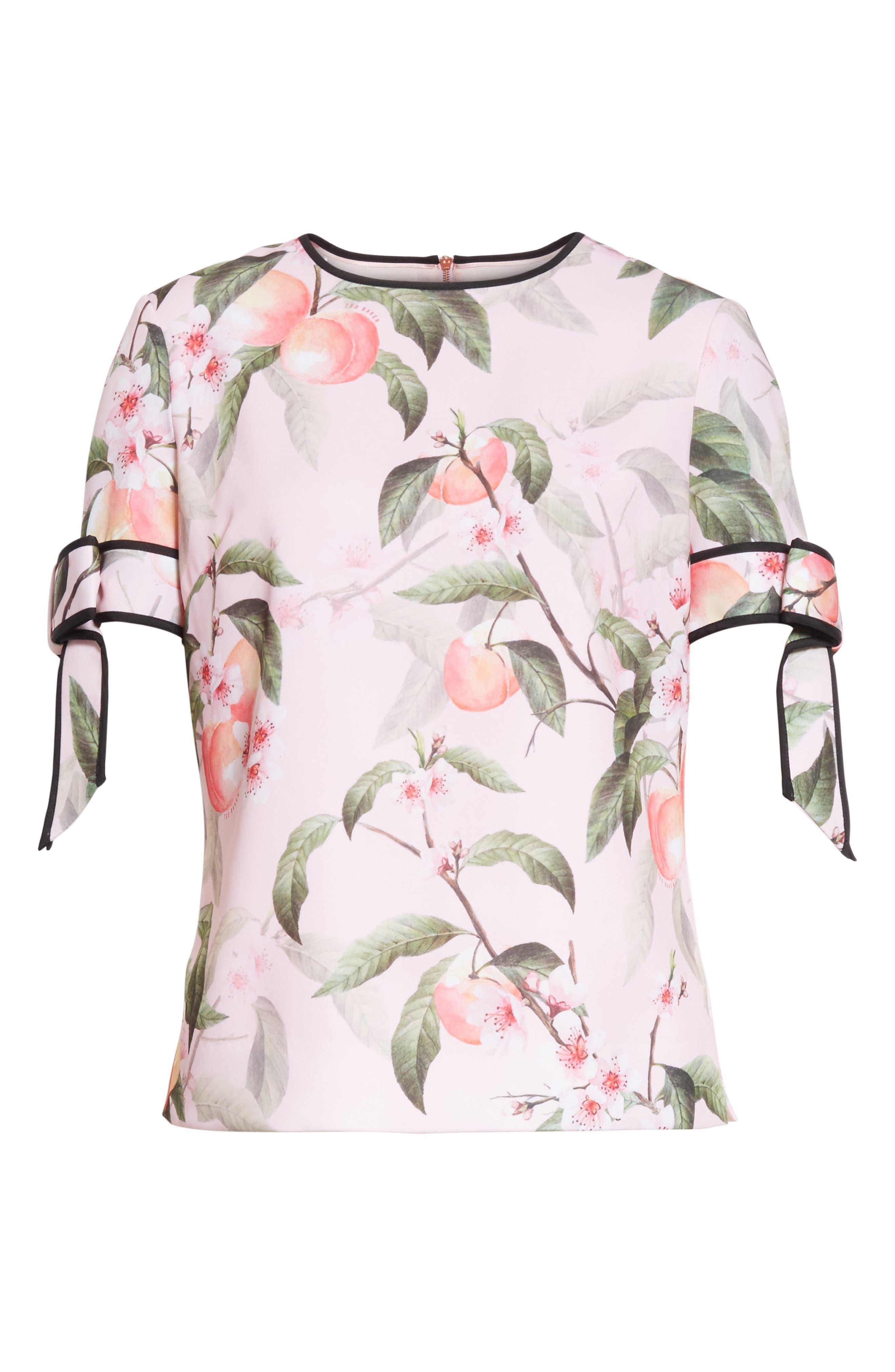 Peach Blossom Bow Sleeve Top,                             Alternate thumbnail 6, color,                             683