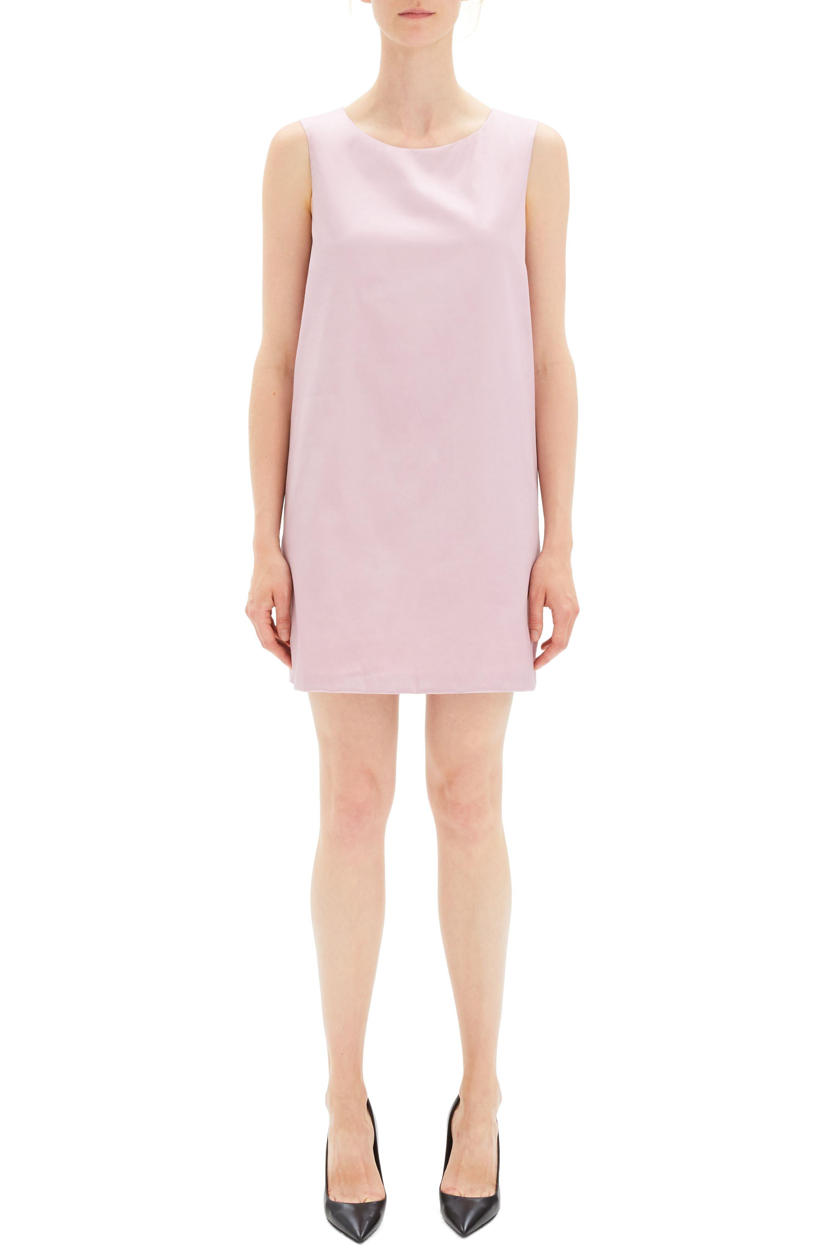 Theory Easy Sleeveless Shift Dress, Size Petite - Pink