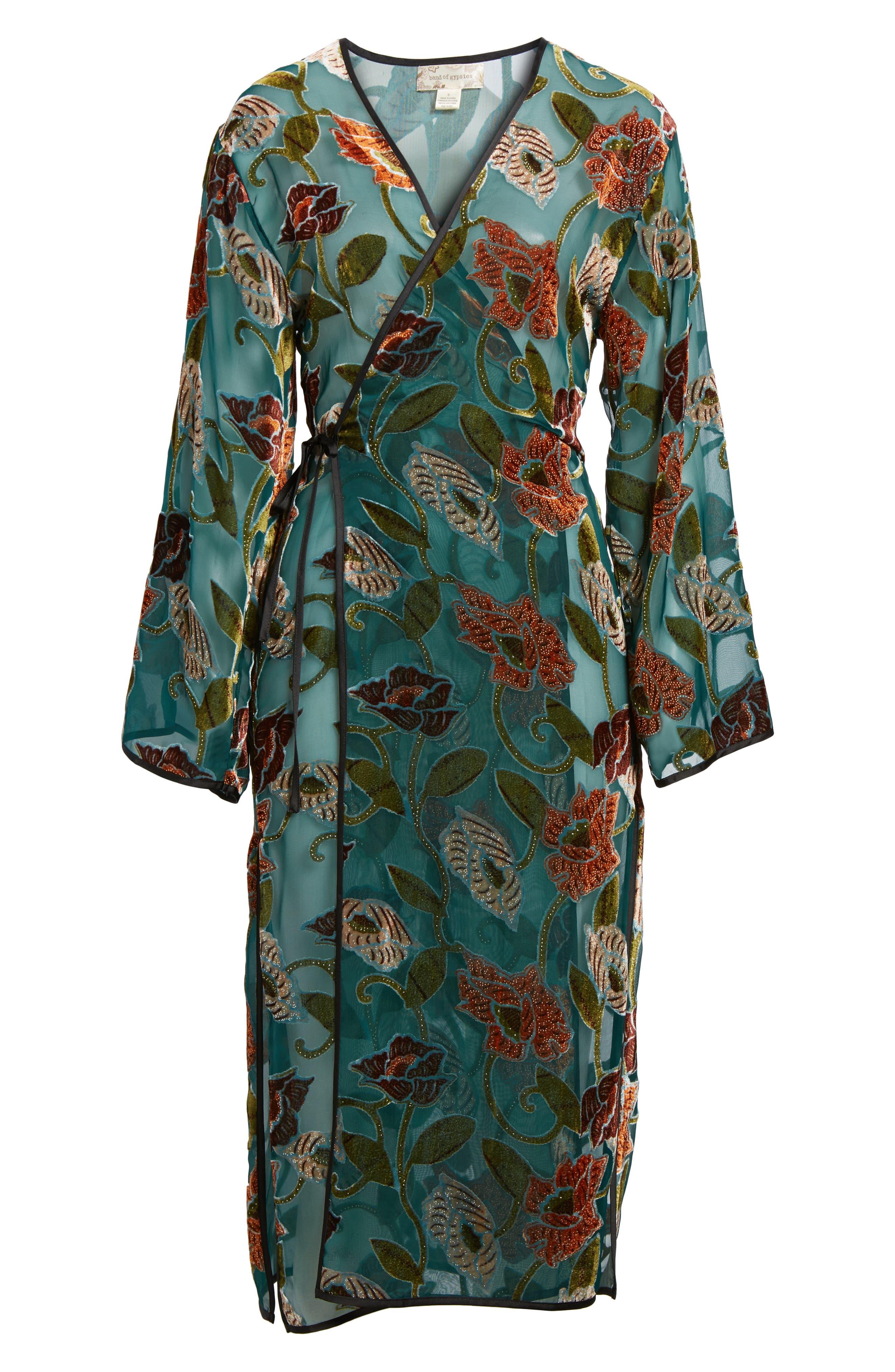 Velvet Burnout Kimono,                             Alternate thumbnail 5, color,                             440