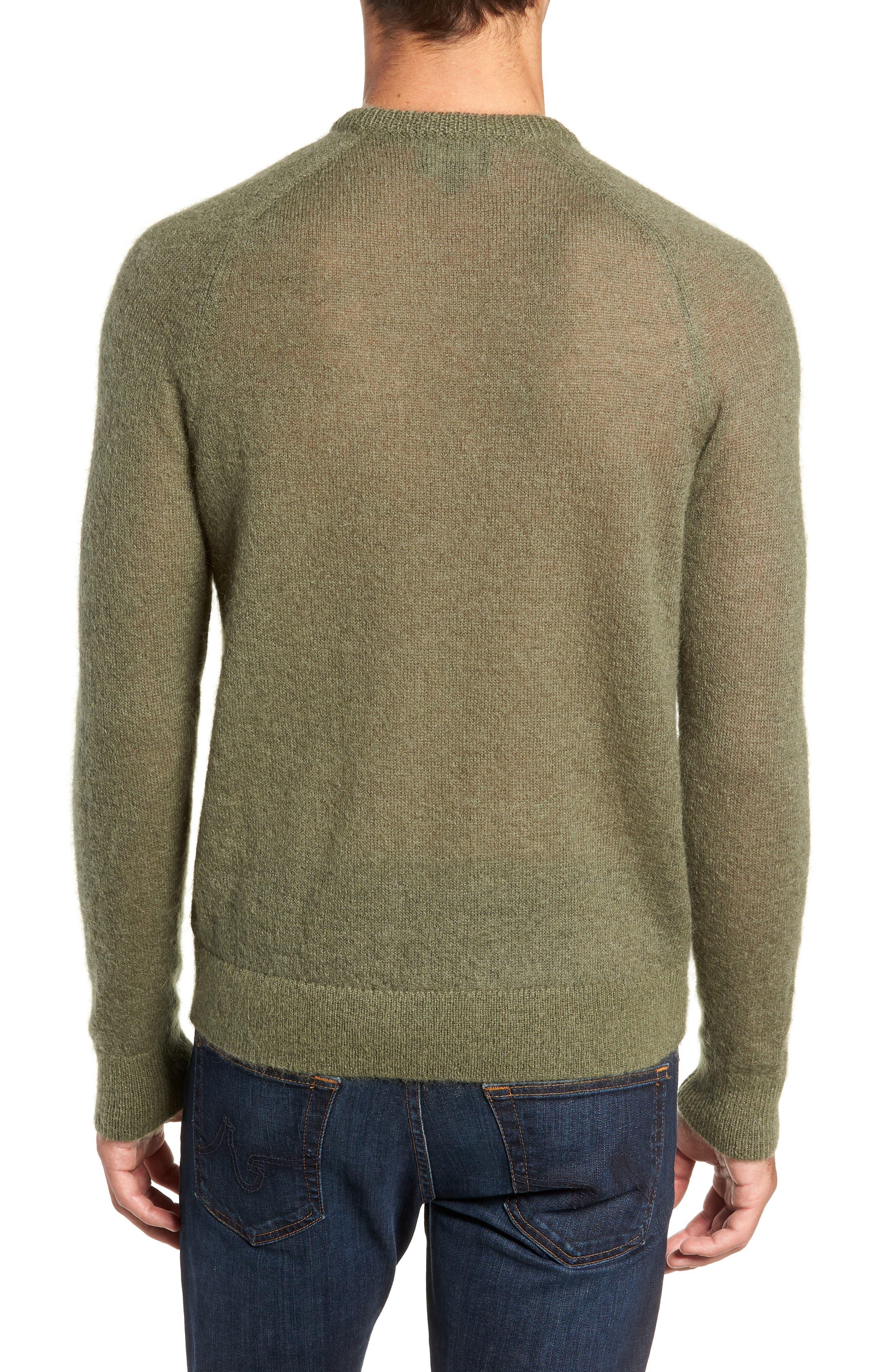 Mohair Blend Crewneck Sweater,                             Alternate thumbnail 2, color,                             340