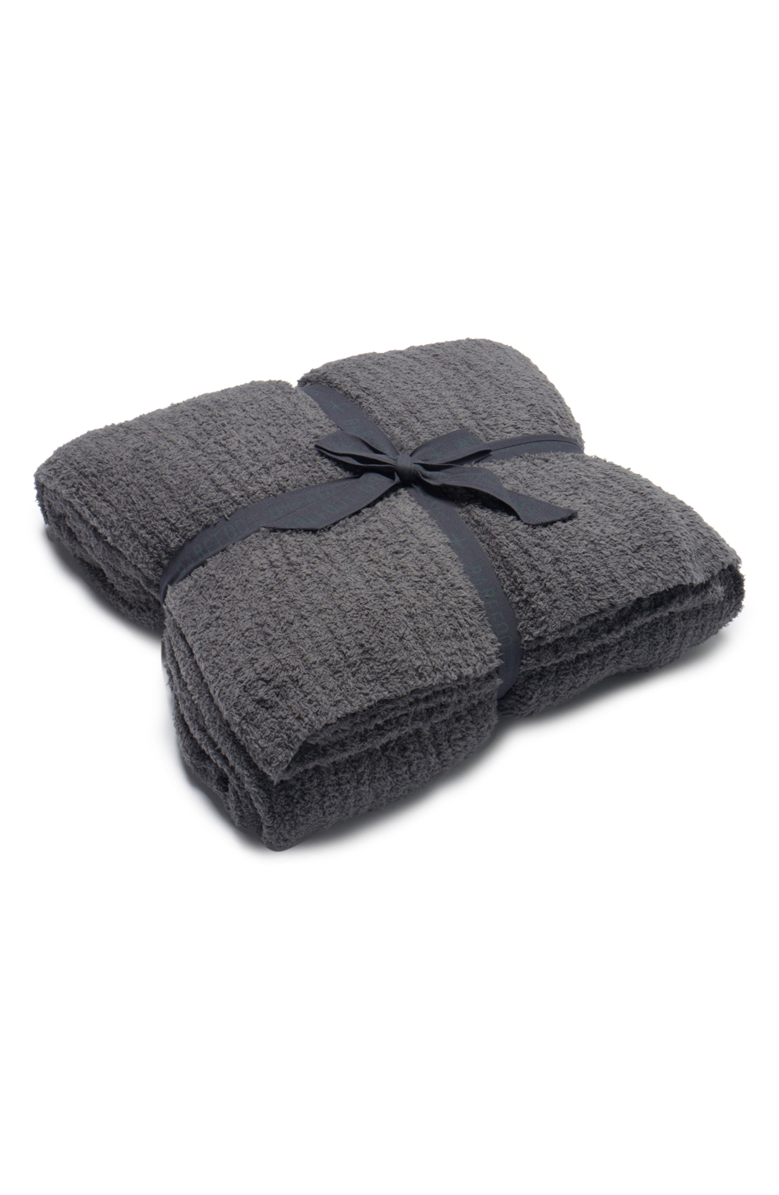 CozyChic<sup>®</sup> Ribbed Throw Blanket,                             Alternate thumbnail 2, color,                             GRAPHITE